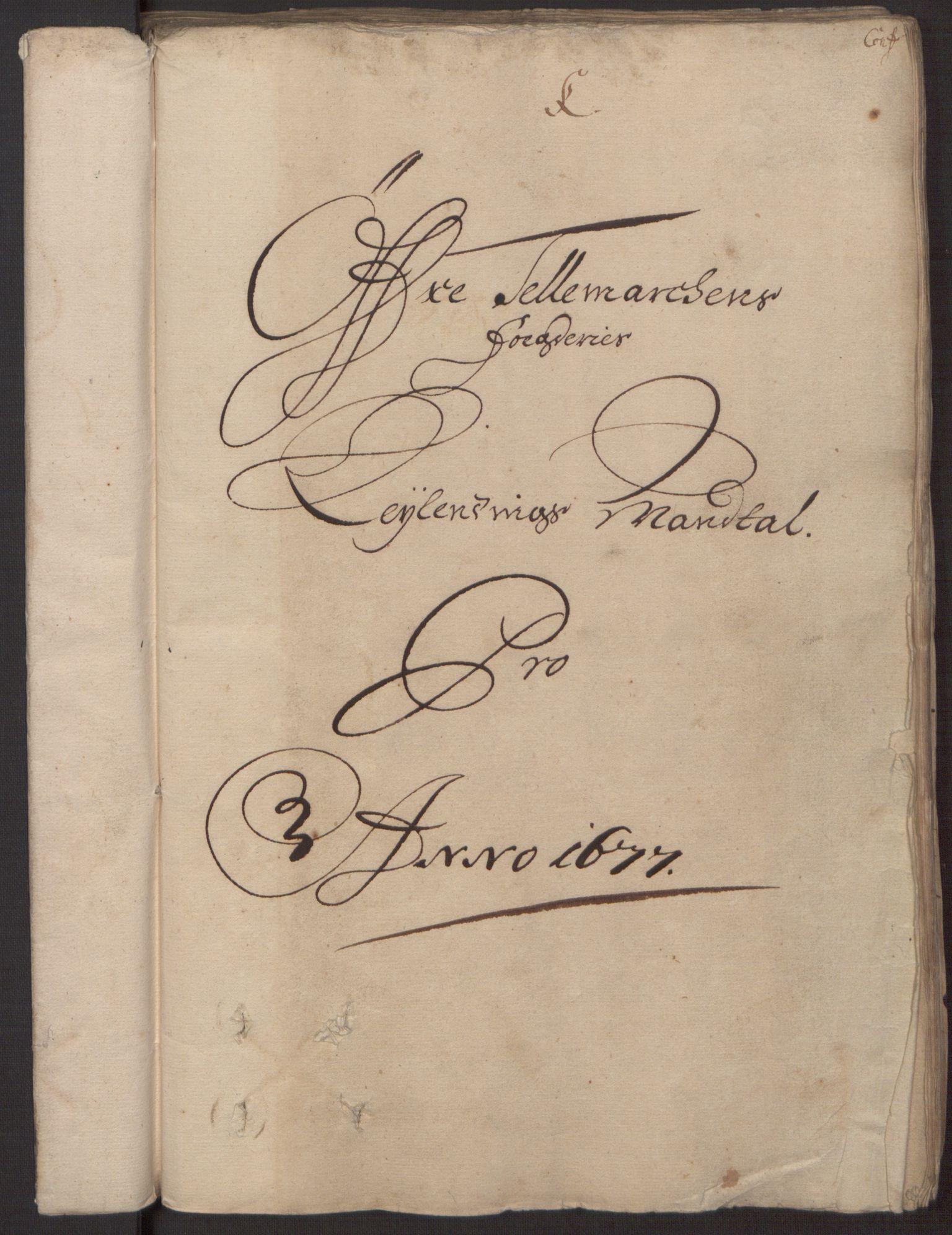 RA, Rentekammeret inntil 1814, Reviderte regnskaper, Fogderegnskap, R35/L2067: Fogderegnskap Øvre og Nedre Telemark, 1677, s. 25