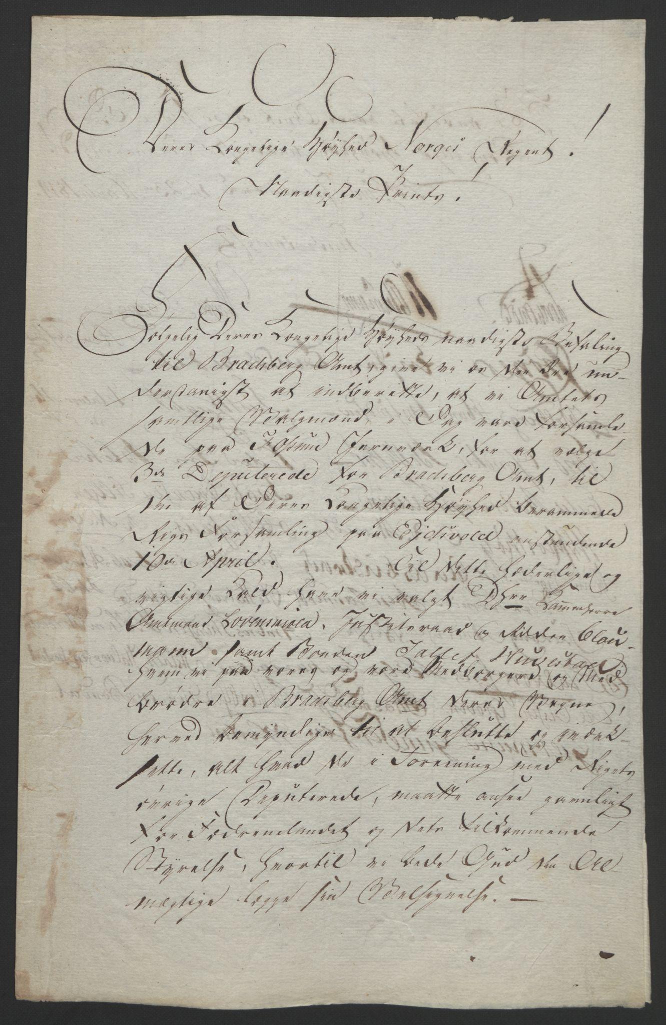 RA, Statsrådssekretariatet, D/Db/L0008: Fullmakter for Eidsvollsrepresentantene i 1814. , 1814, s. 38