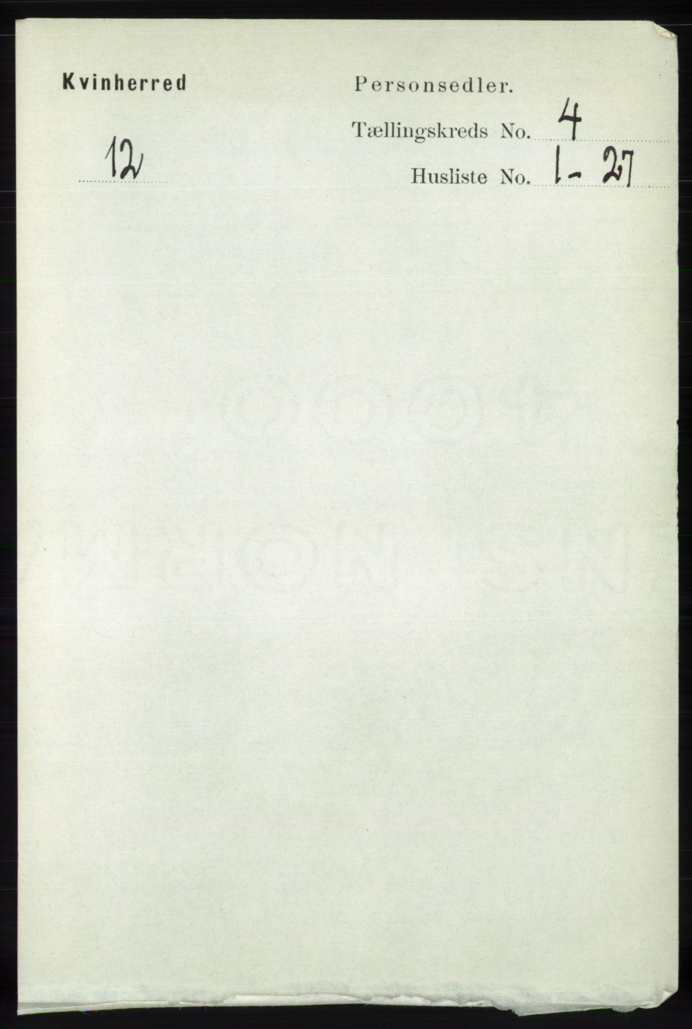 RA, Folketelling 1891 for 1224 Kvinnherad herred, 1891, s. 1383