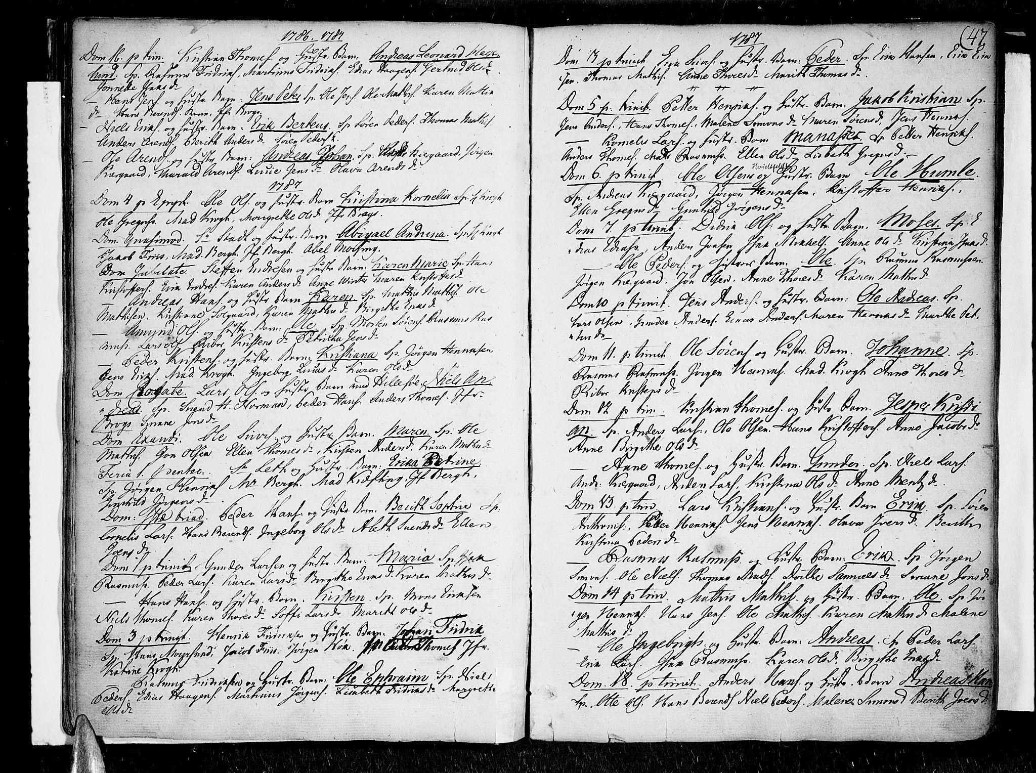 SATØ, Lenvik sokneprestembete, H/Ha/Haa/L0002kirke: Ministerialbok nr. 2, 1784-1820, s. 47