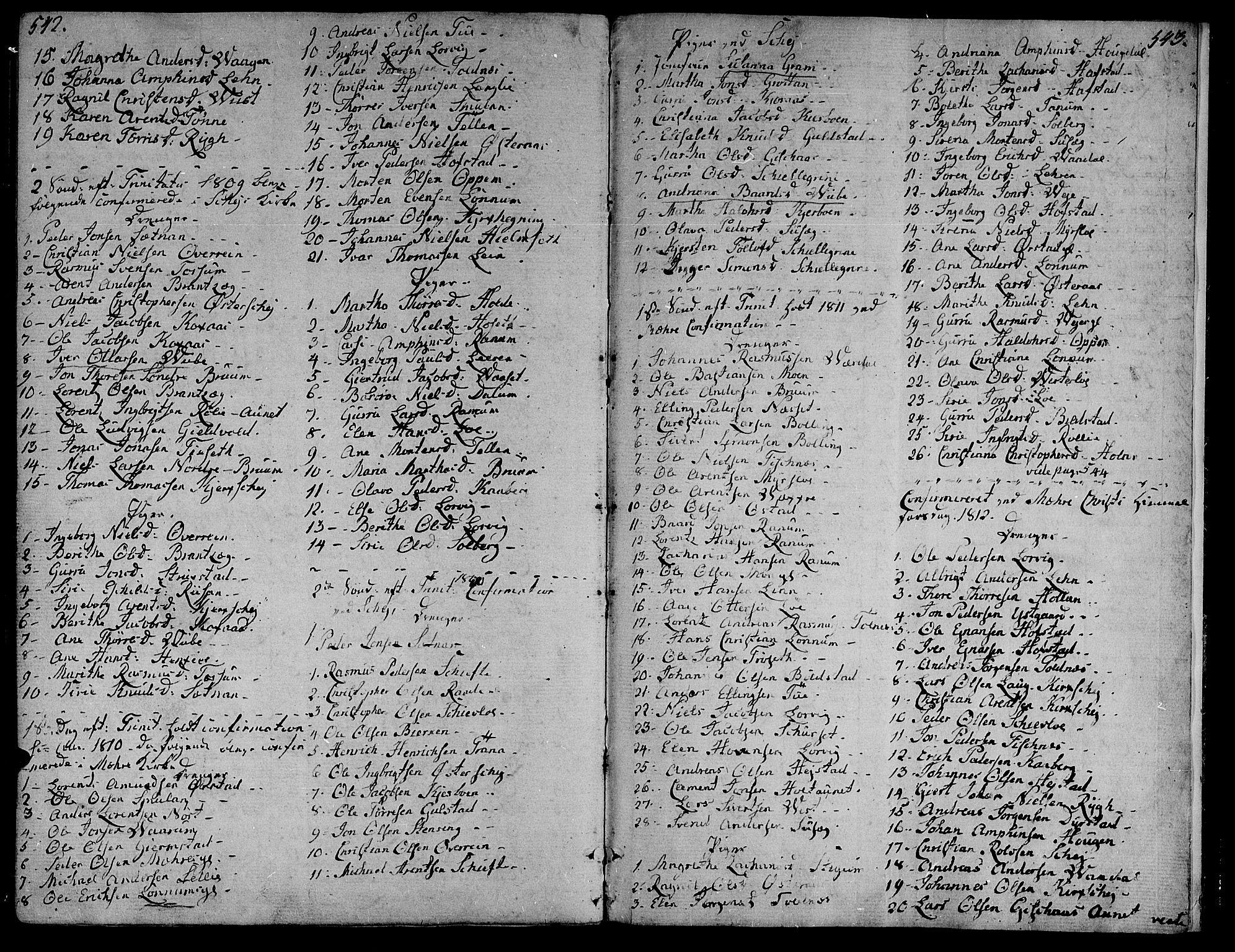 SAT, Ministerialprotokoller, klokkerbøker og fødselsregistre - Nord-Trøndelag, 735/L0332: Ministerialbok nr. 735A03, 1795-1816, s. 542-543