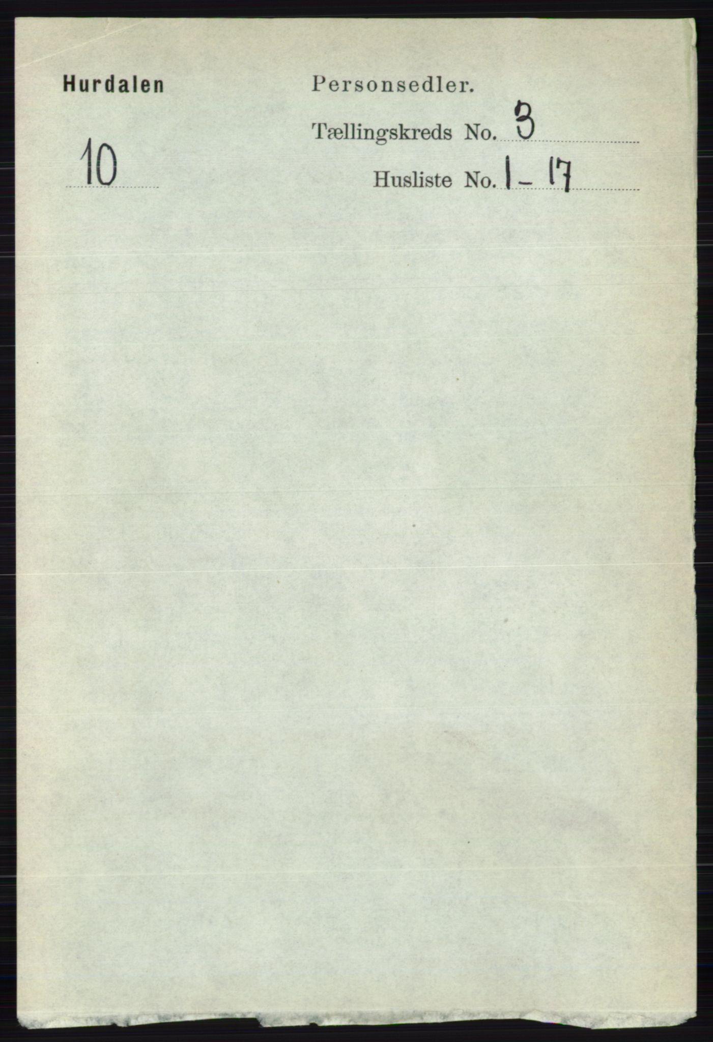 RA, Folketelling 1891 for 0239 Hurdal herred, 1891, s. 1028