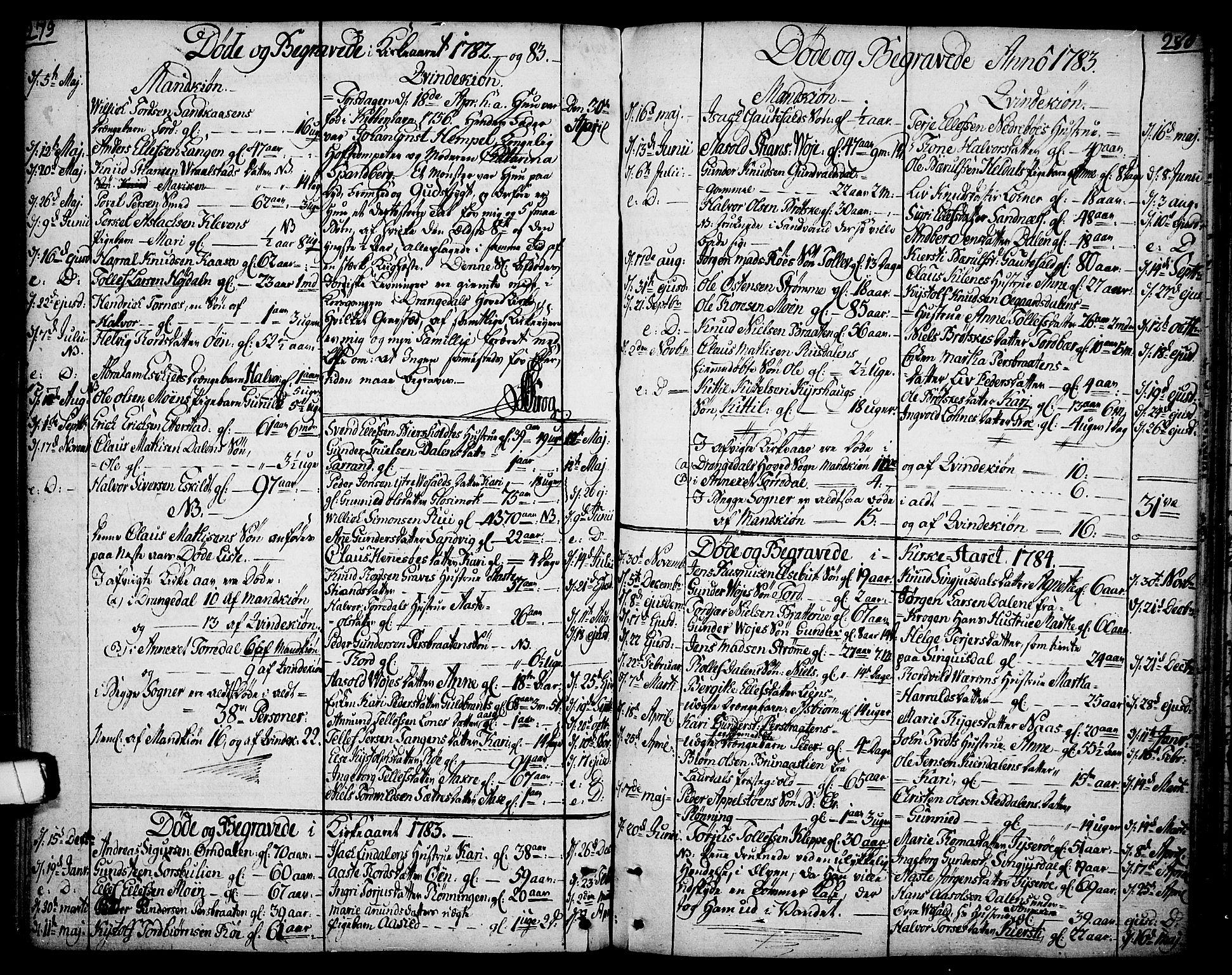 SAKO, Drangedal kirkebøker, F/Fa/L0003: Ministerialbok nr. 3, 1768-1814, s. 279-280