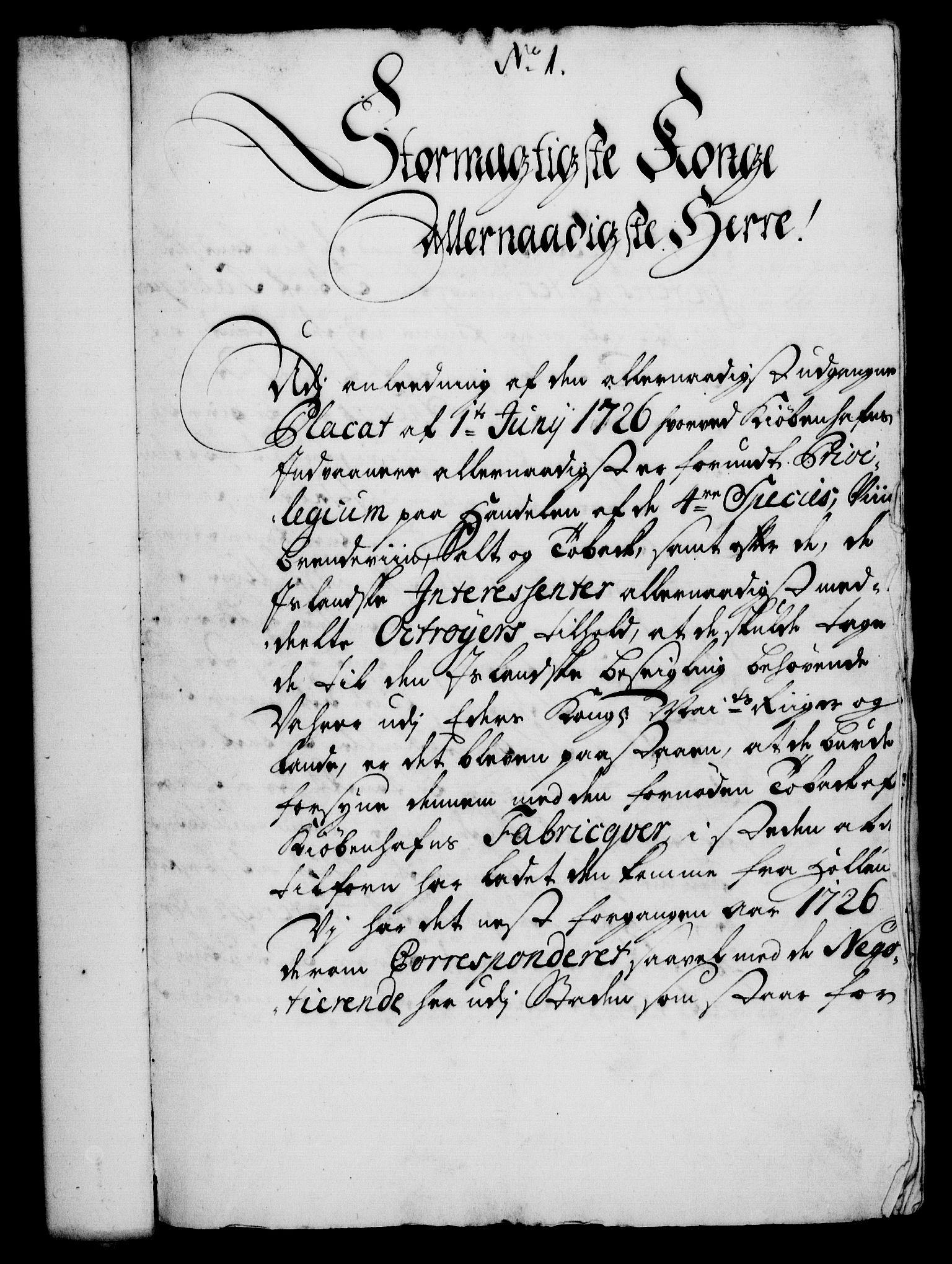 RA, Rentekammeret, Kammerkanselliet, G/Gf/Gfa/L0011: Norsk relasjons- og resolusjonsprotokoll (merket RK 52.11), 1728, s. 29