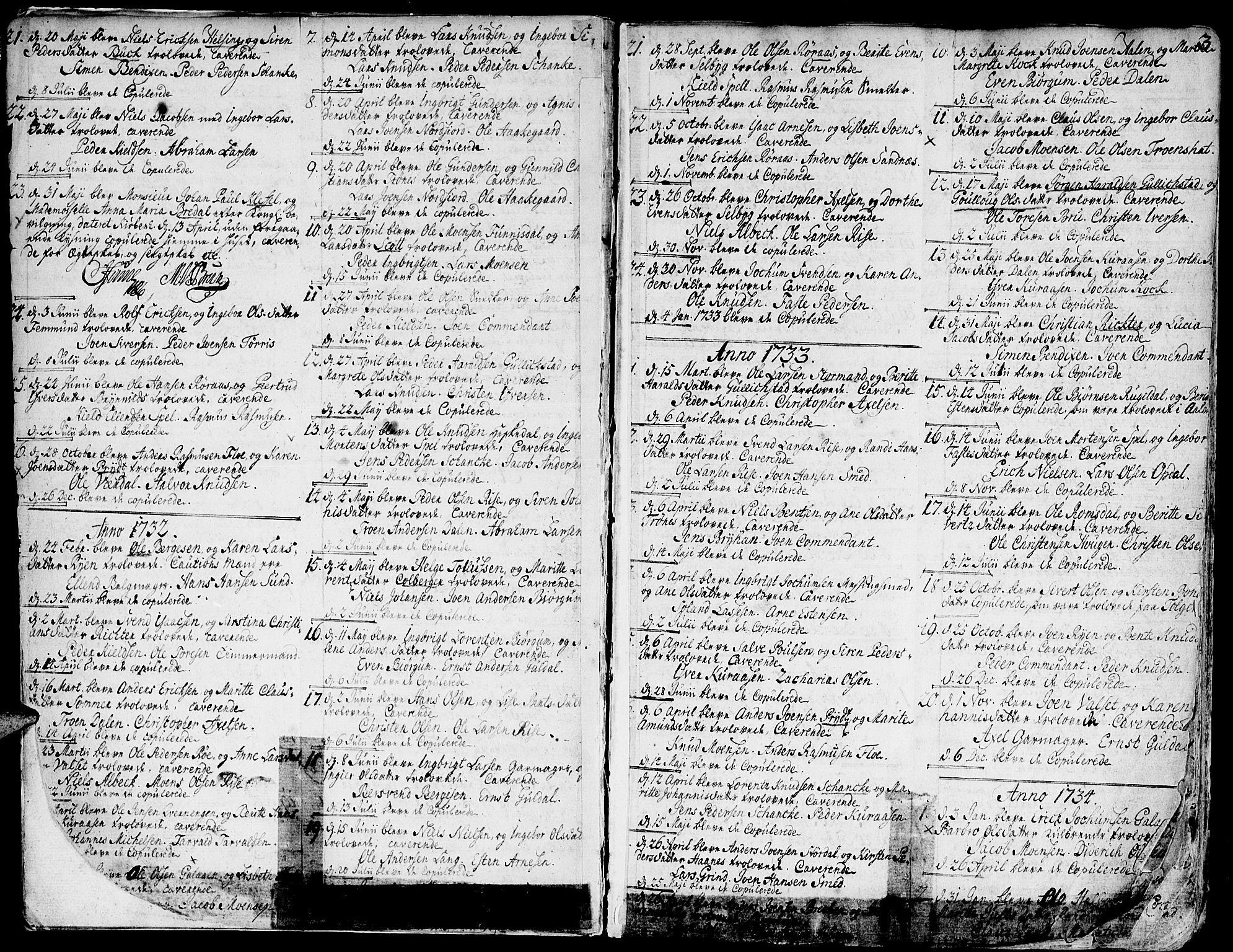 SAT, Ministerialprotokoller, klokkerbøker og fødselsregistre - Sør-Trøndelag, 681/L0925: Ministerialbok nr. 681A03, 1727-1766, s. 3