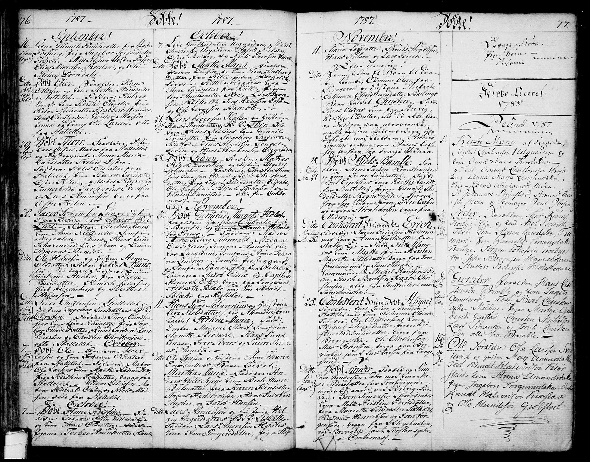SAKO, Bamble kirkebøker, F/Fa/L0002: Ministerialbok nr. I 2, 1775-1814, s. 76-77