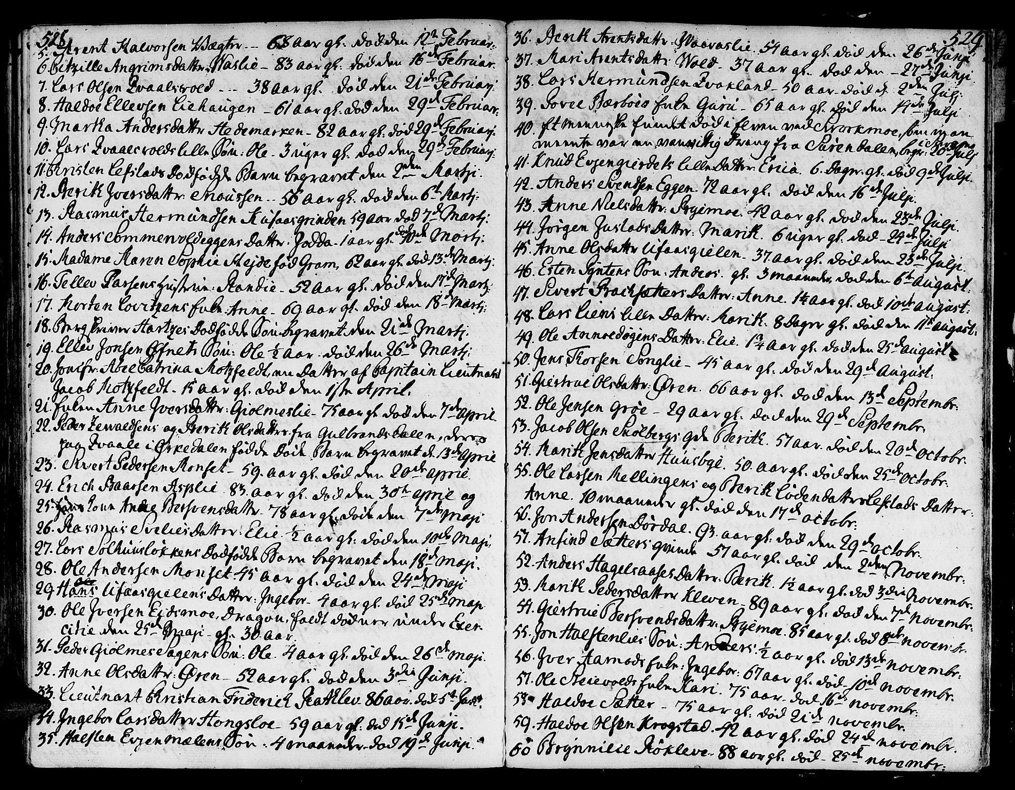 SAT, Ministerialprotokoller, klokkerbøker og fødselsregistre - Sør-Trøndelag, 668/L0802: Ministerialbok nr. 668A02, 1776-1799, s. 528-529