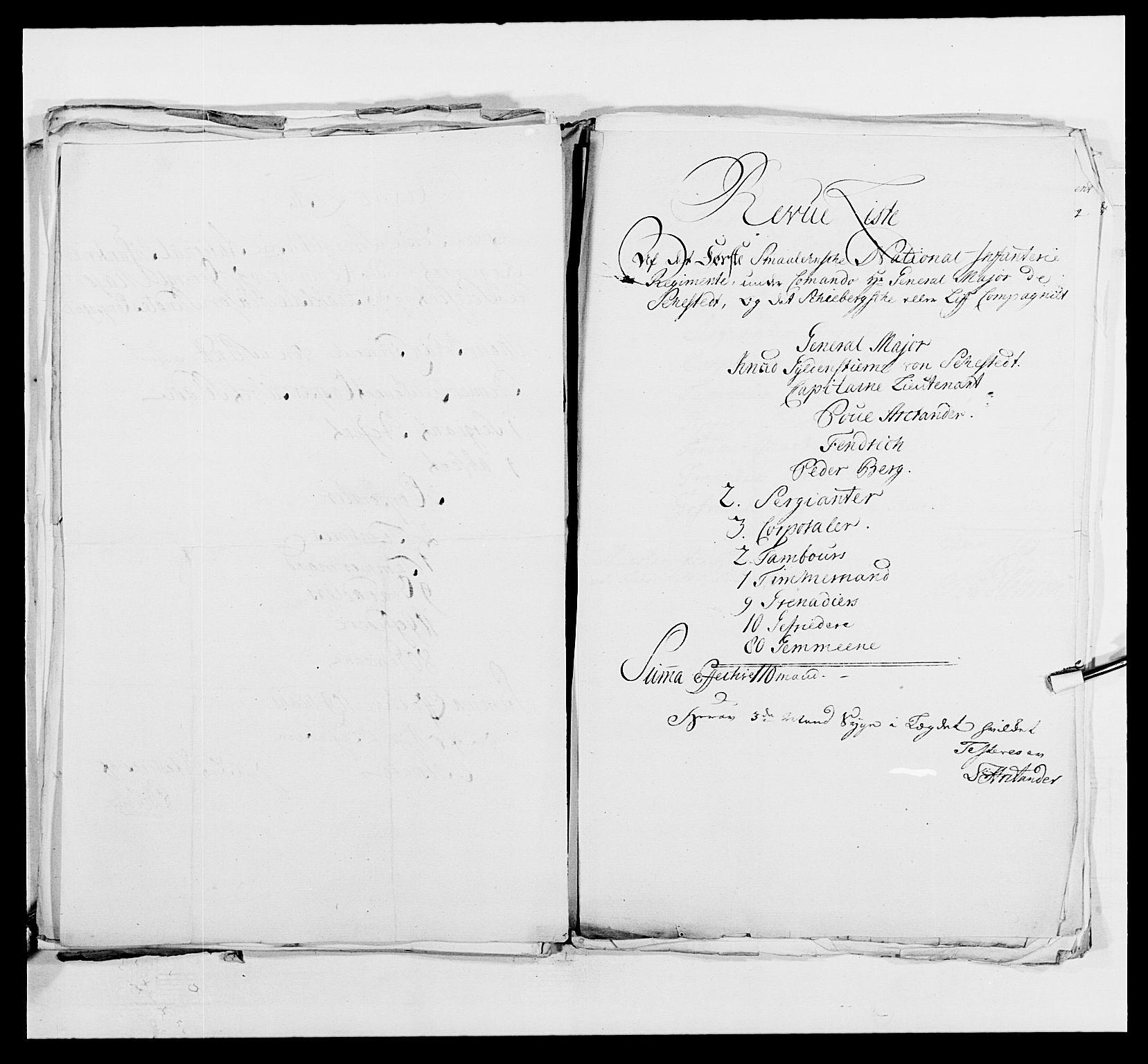 RA, Kommanderende general (KG I) med Det norske krigsdirektorium, E/Ea/L0495: 1. Smålenske regiment, 1732-1763, s. 616