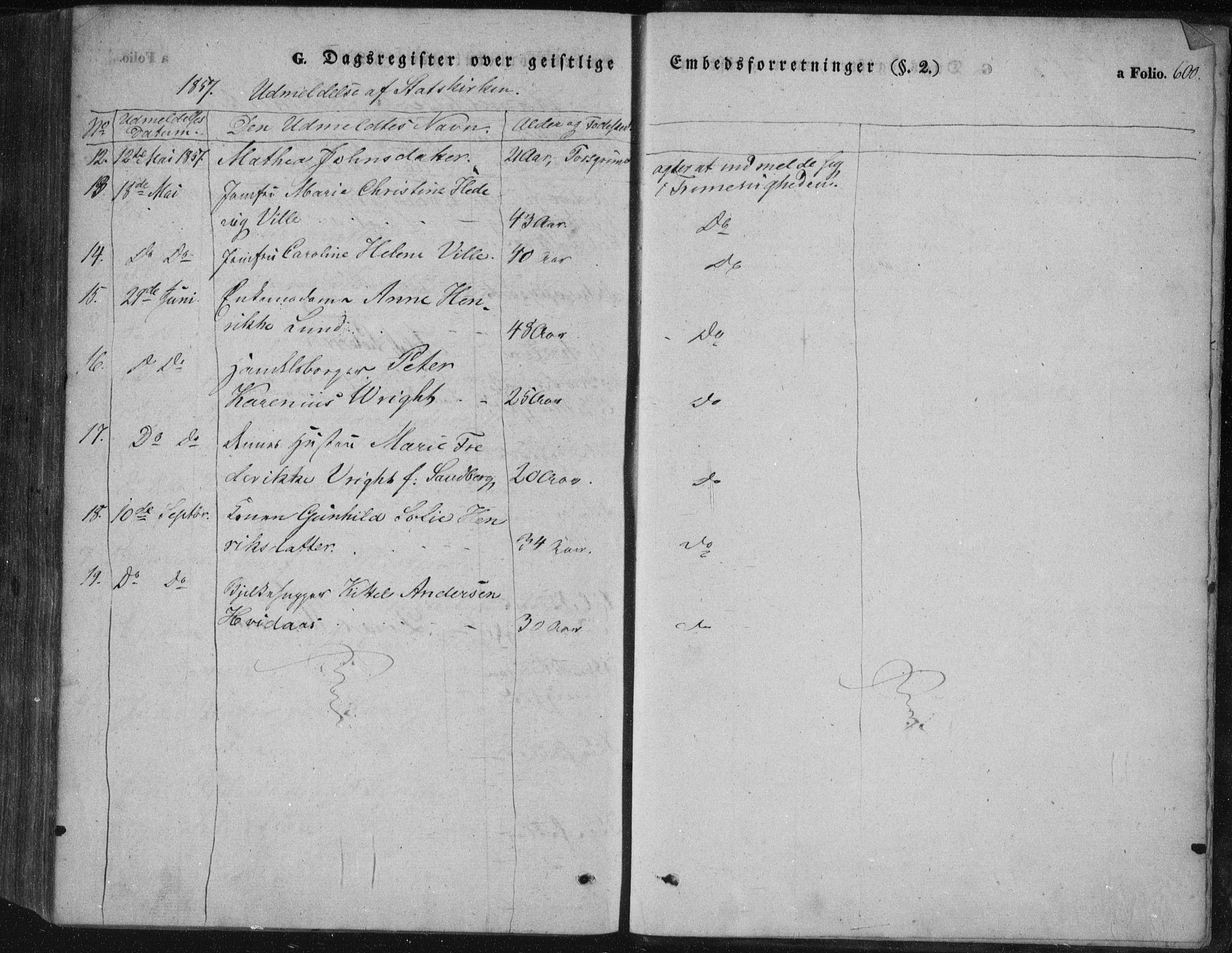 SAKO, Porsgrunn kirkebøker , F/Fa/L0006: Ministerialbok nr. 6, 1841-1857, s. 600
