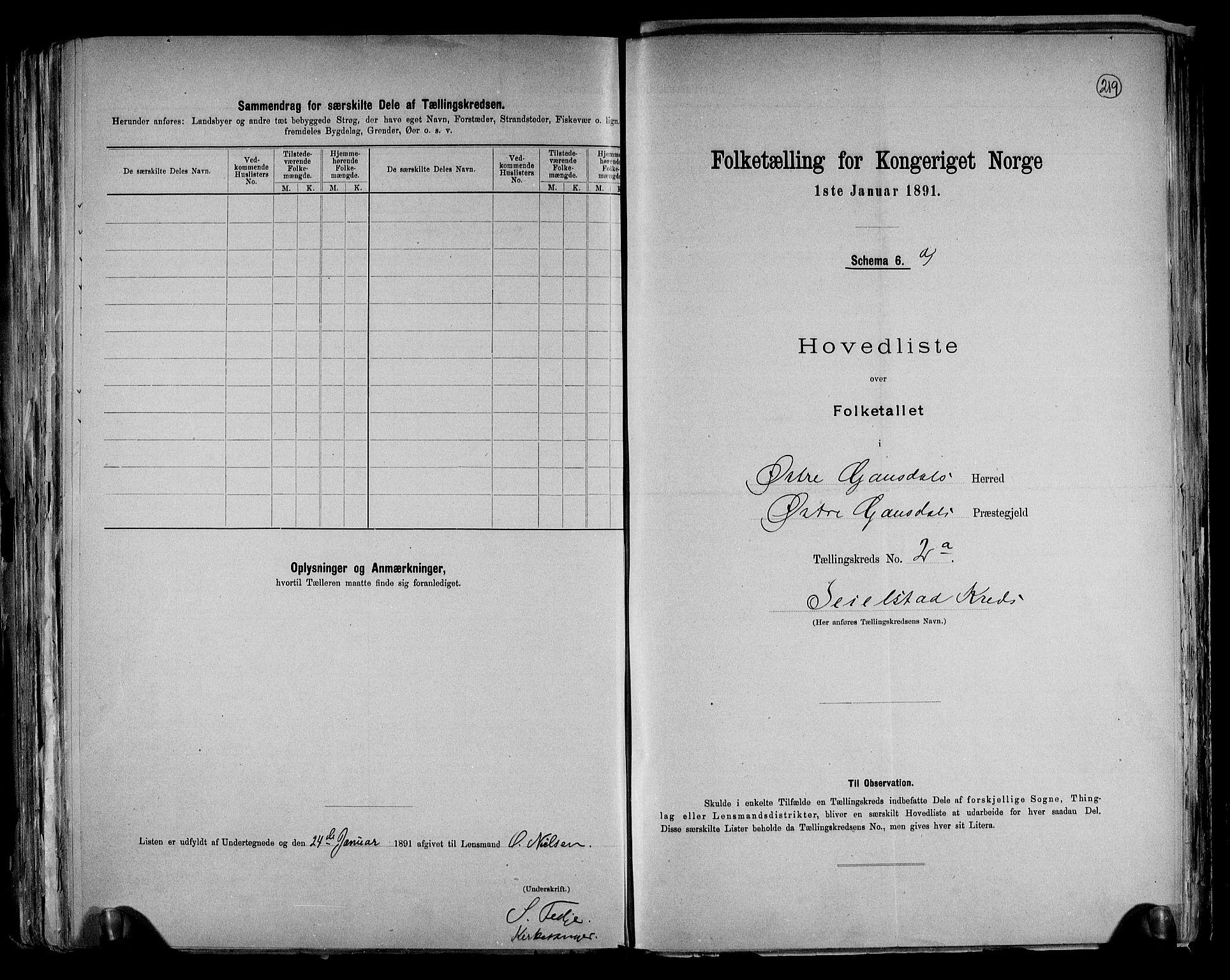 RA, Folketelling 1891 for 0522 Østre Gausdal herred, 1891, s. 10