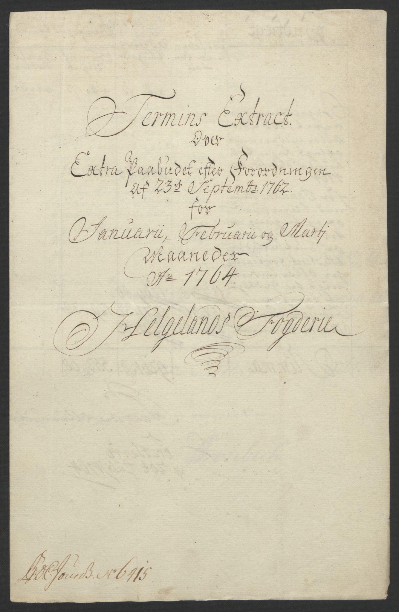 RA, Rentekammeret inntil 1814, Reviderte regnskaper, Fogderegnskap, R65/L4573: Ekstraskatten Helgeland, 1762-1772, s. 57