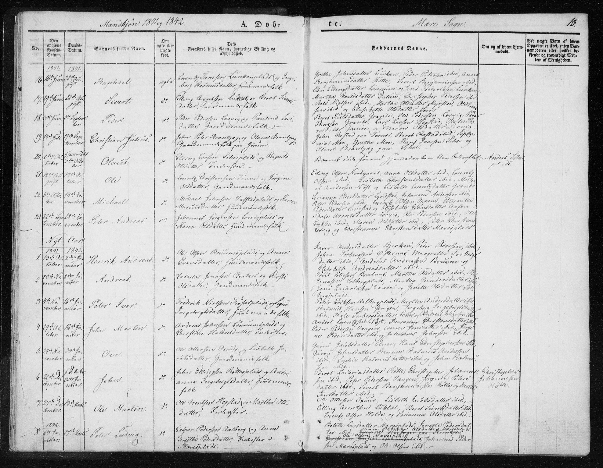 SAT, Ministerialprotokoller, klokkerbøker og fødselsregistre - Nord-Trøndelag, 735/L0339: Ministerialbok nr. 735A06 /1, 1836-1848, s. 13
