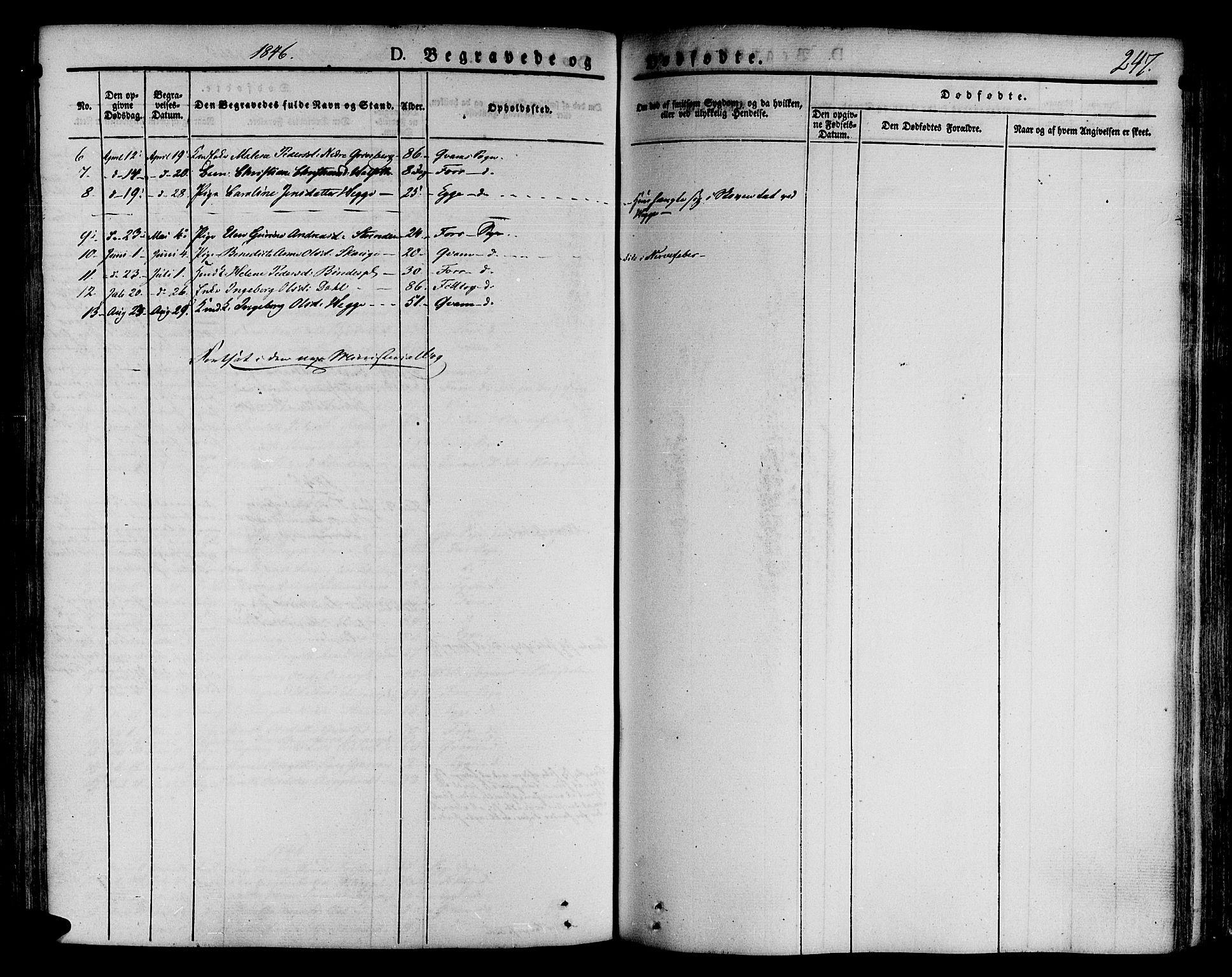 SAT, Ministerialprotokoller, klokkerbøker og fødselsregistre - Nord-Trøndelag, 746/L0445: Ministerialbok nr. 746A04, 1826-1846, s. 247