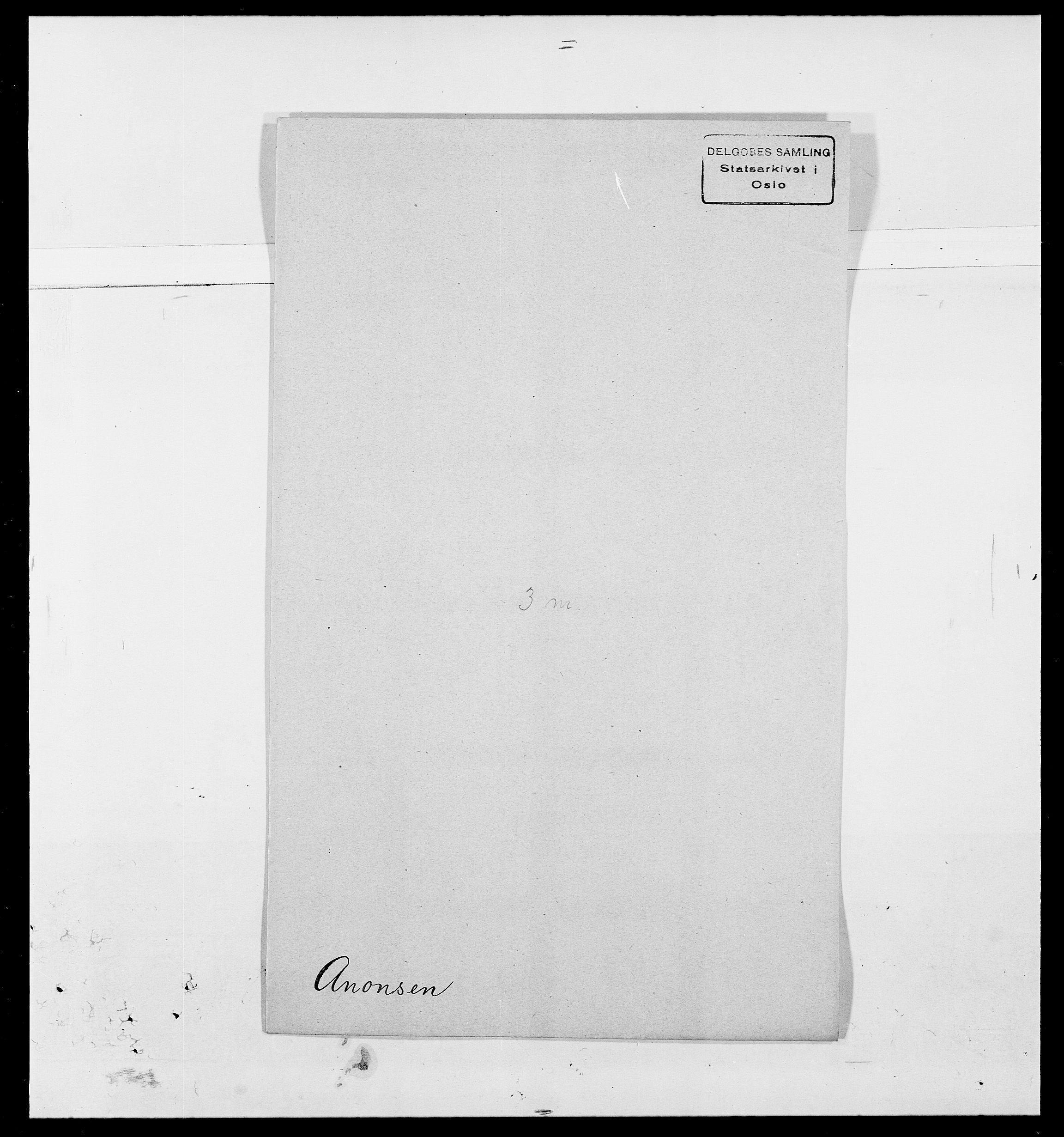 SAO, Delgobe, Charles Antoine - samling, D/Da/L0002: Anker, Ancher - Bauner, s. 181