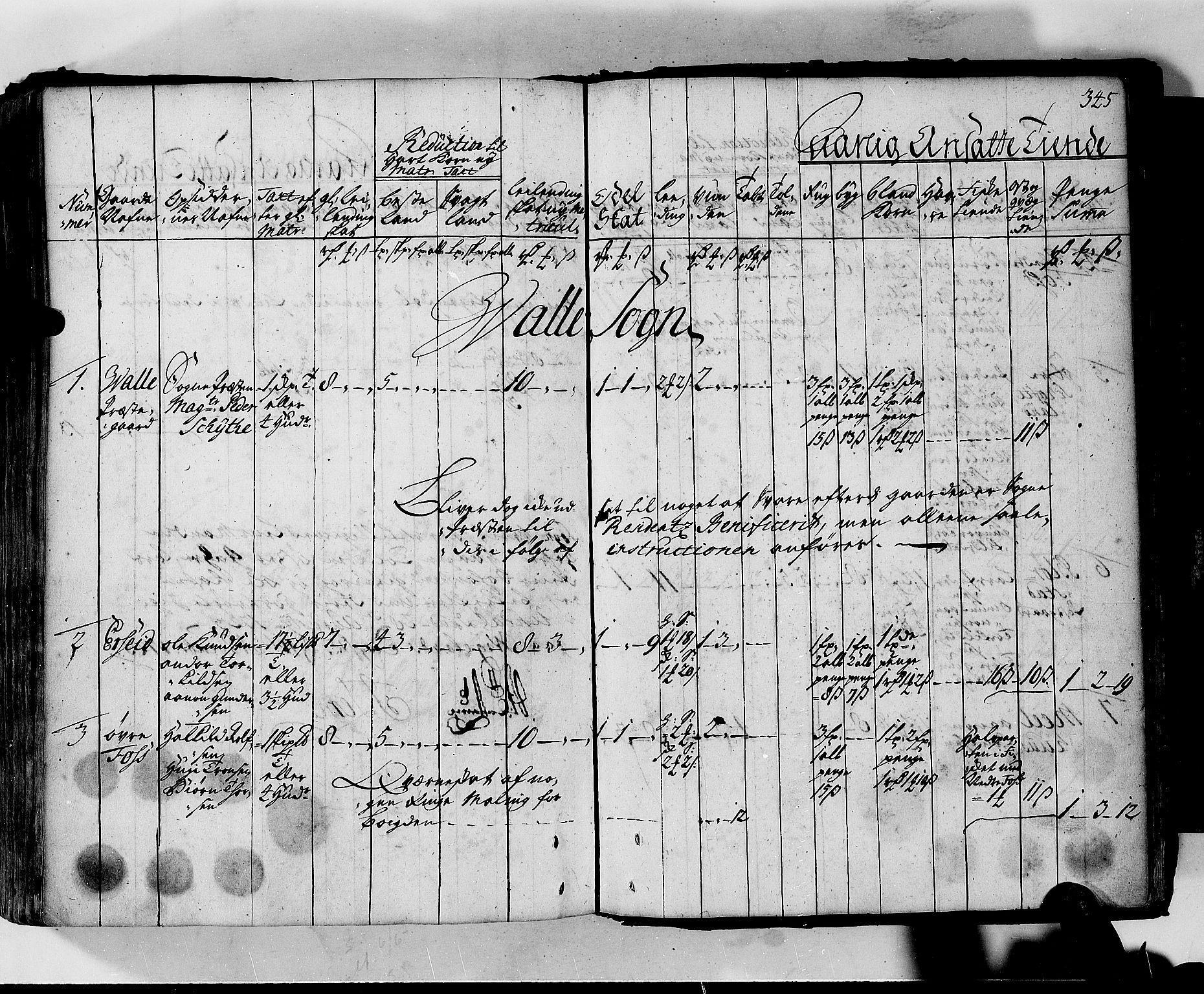 RA, Rentekammeret inntil 1814, Realistisk ordnet avdeling, N/Nb/Nbf/L0130: Lista matrikkelprotokoll, 1723, s. 344b-345a