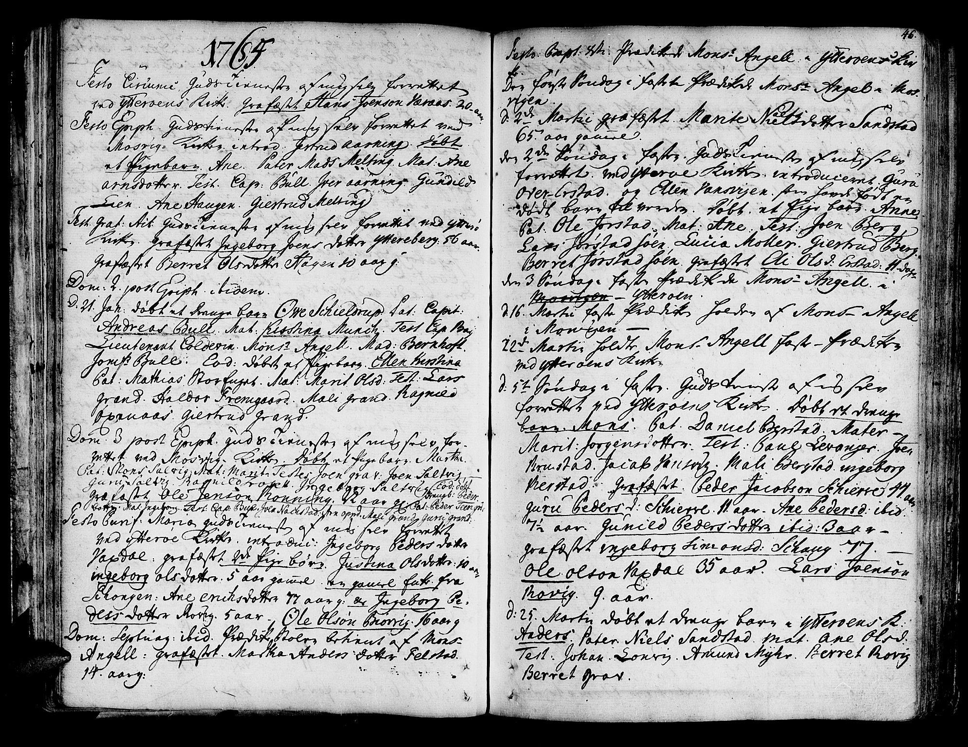 SAT, Ministerialprotokoller, klokkerbøker og fødselsregistre - Nord-Trøndelag, 722/L0216: Ministerialbok nr. 722A03, 1756-1816, s. 46