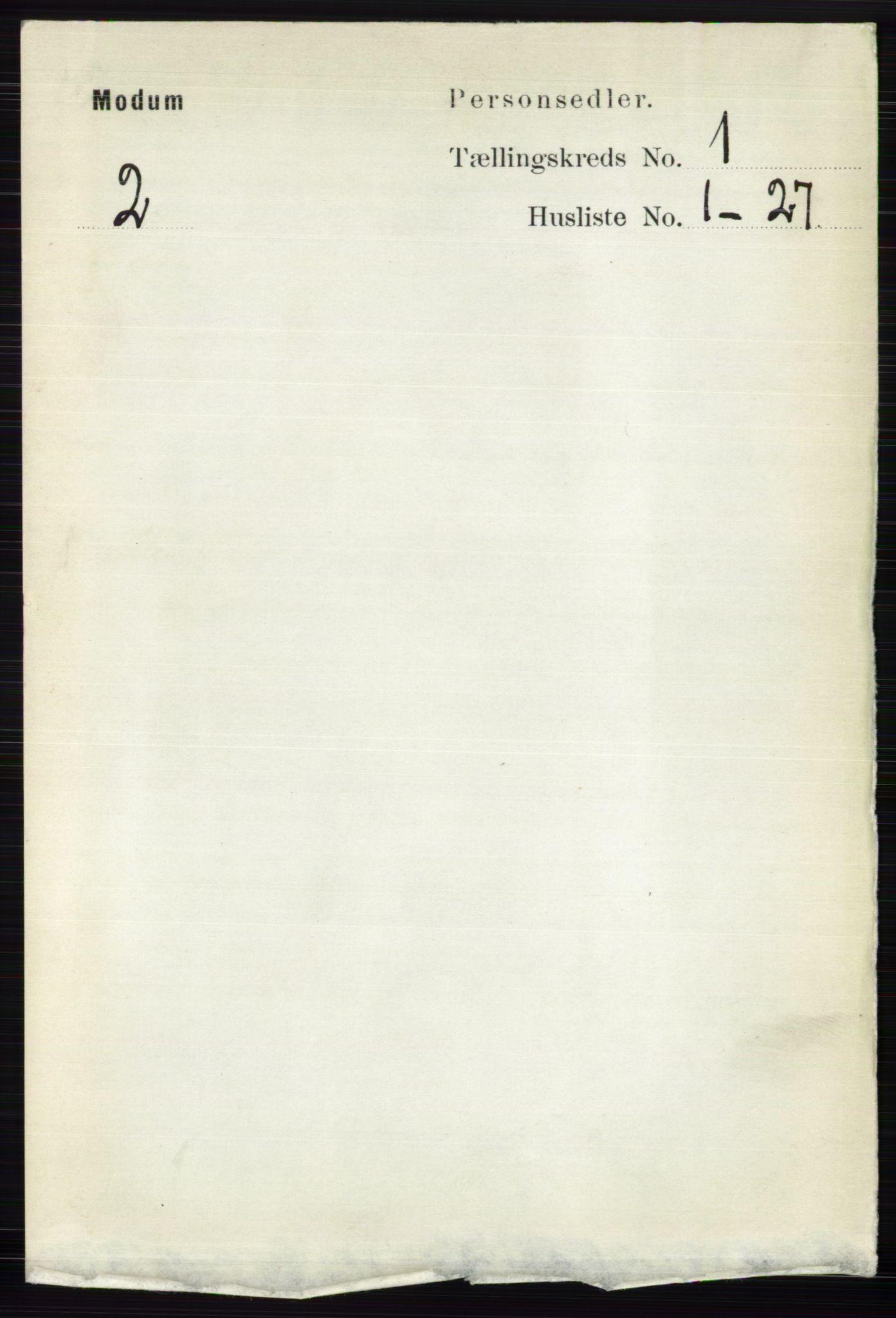 RA, Folketelling 1891 for 0623 Modum herred, 1891, s. 124