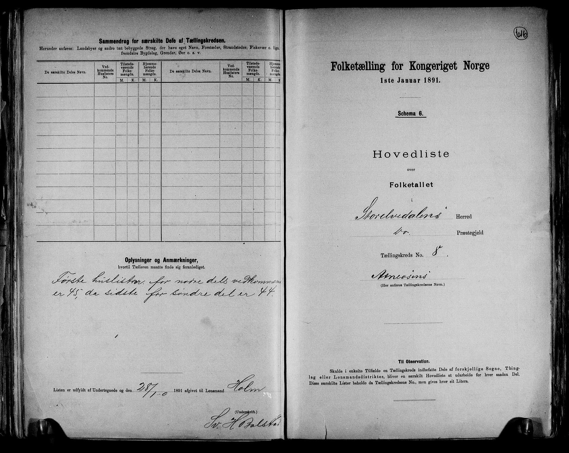 RA, Folketelling 1891 for 0430 Stor-Elvdal herred, 1891, s. 21