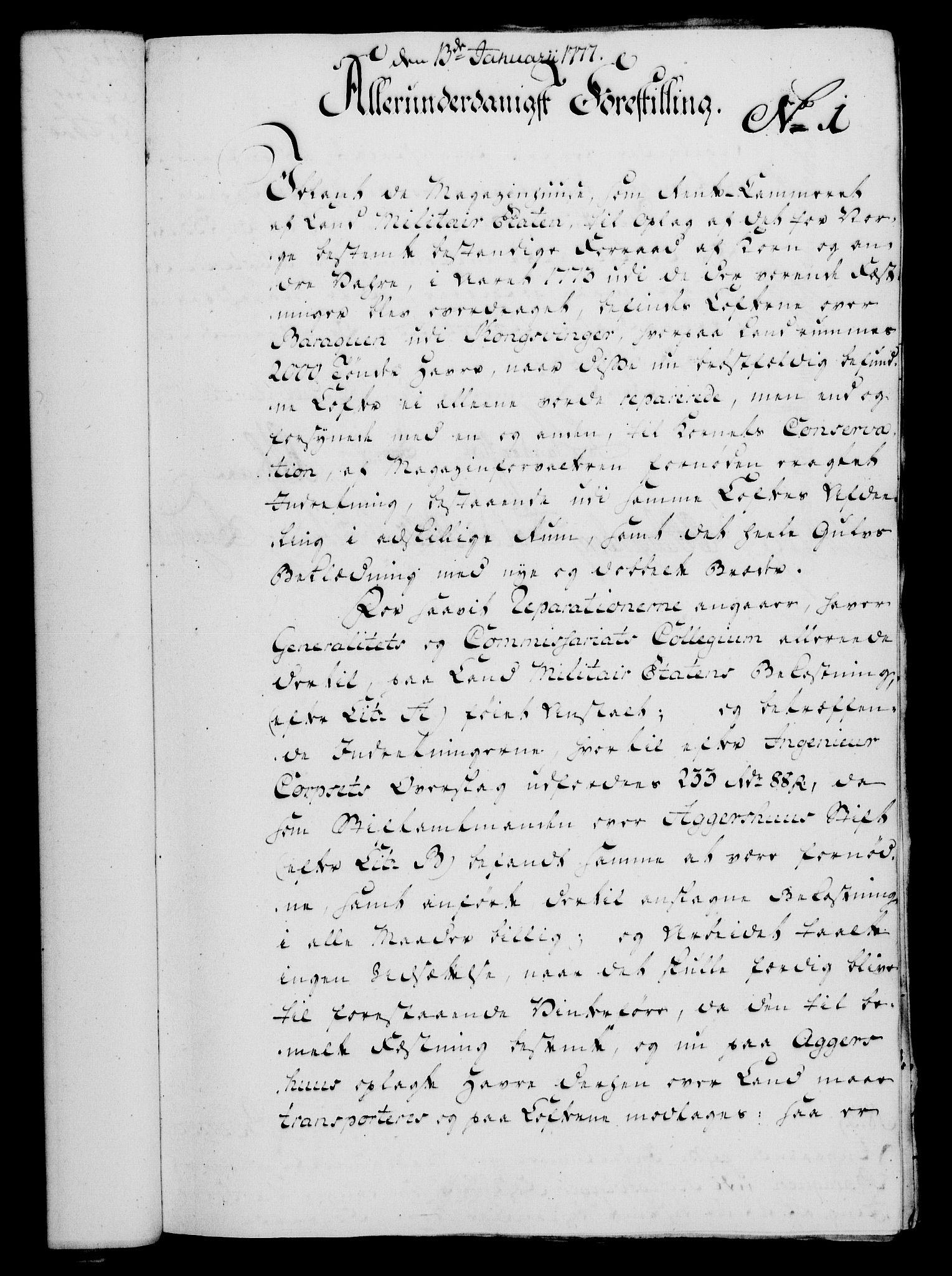 RA, Rentekammeret, Kammerkanselliet, G/Gf/Gfa/L0059: Norsk relasjons- og resolusjonsprotokoll (merket RK 52.59), 1777, s. 27