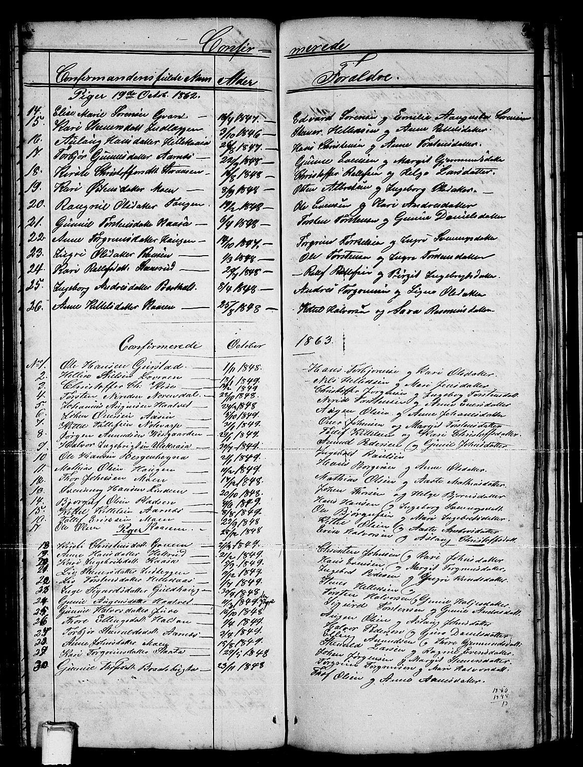 SAKO, Sauherad kirkebøker, G/Gb/L0001: Klokkerbok nr. II 1, 1845-1865, s. 70