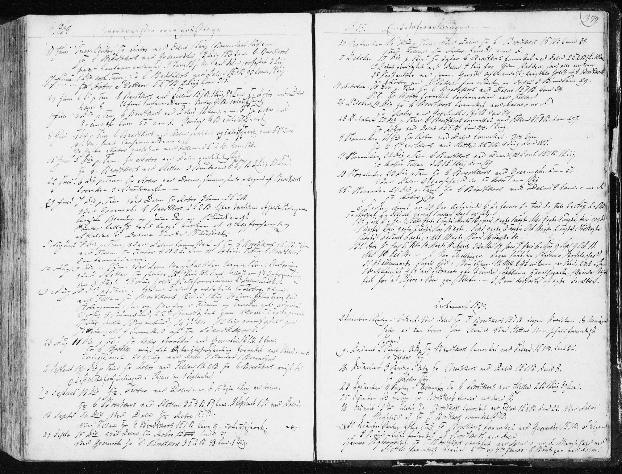 SAT, Ministerialprotokoller, klokkerbøker og fødselsregistre - Sør-Trøndelag, 634/L0528: Ministerialbok nr. 634A04, 1827-1842, s. 379