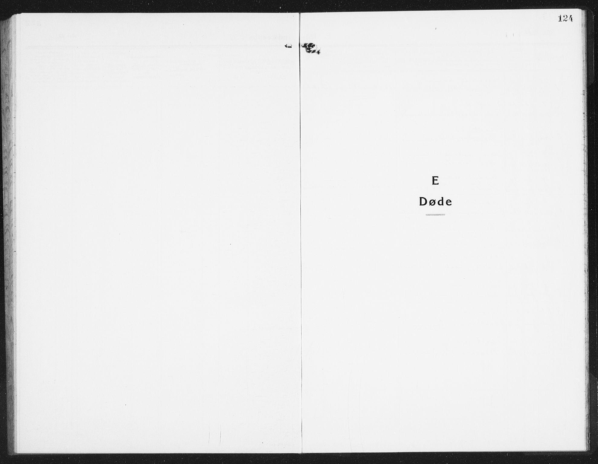 SAST, Kopervik sokneprestkontor, H/Ha/Hab/L0007: Klokkerbok nr. B 7, 1918-1942, s. 124