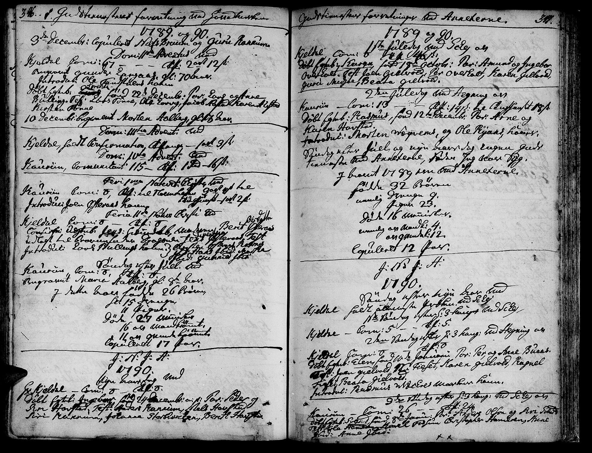 SAT, Ministerialprotokoller, klokkerbøker og fødselsregistre - Nord-Trøndelag, 735/L0331: Ministerialbok nr. 735A02, 1762-1794, s. 346-347