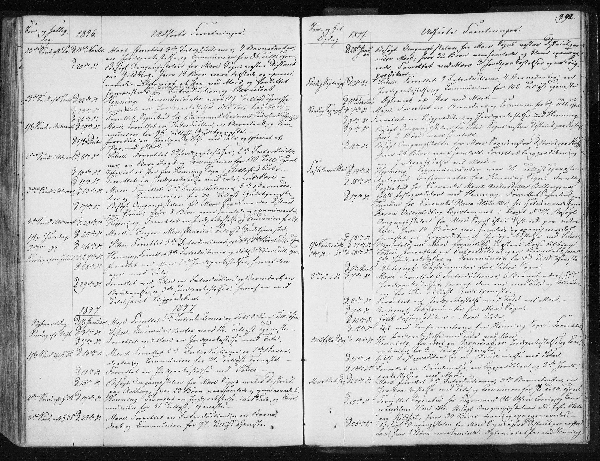 SAT, Ministerialprotokoller, klokkerbøker og fødselsregistre - Nord-Trøndelag, 735/L0339: Ministerialbok nr. 735A06 /1, 1836-1848, s. 392