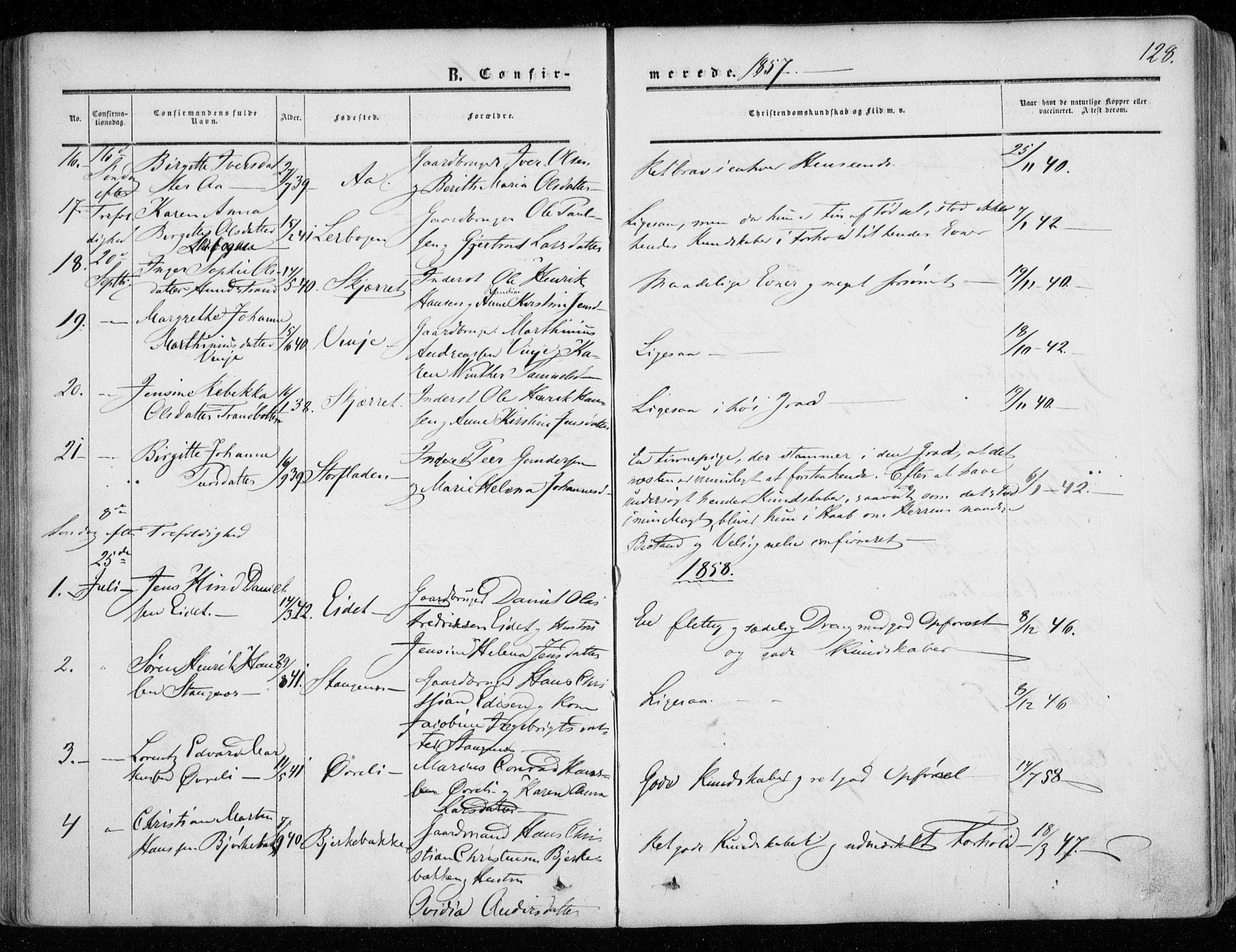 SATØ, Tranøy sokneprestkontor, I/Ia/Iaa/L0007kirke: Ministerialbok nr. 7, 1856-1866, s. 128