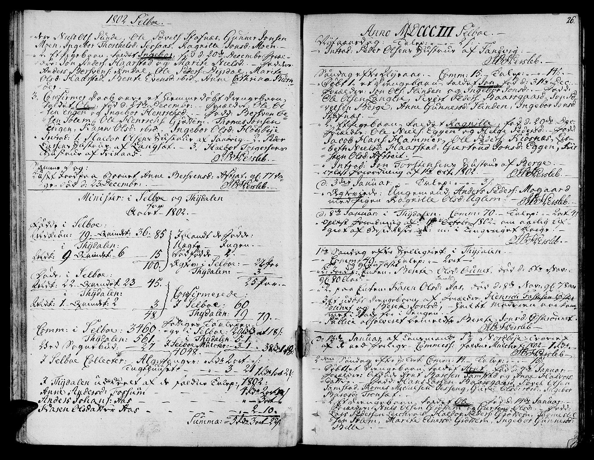SAT, Ministerialprotokoller, klokkerbøker og fødselsregistre - Sør-Trøndelag, 695/L1140: Ministerialbok nr. 695A03, 1801-1815, s. 26