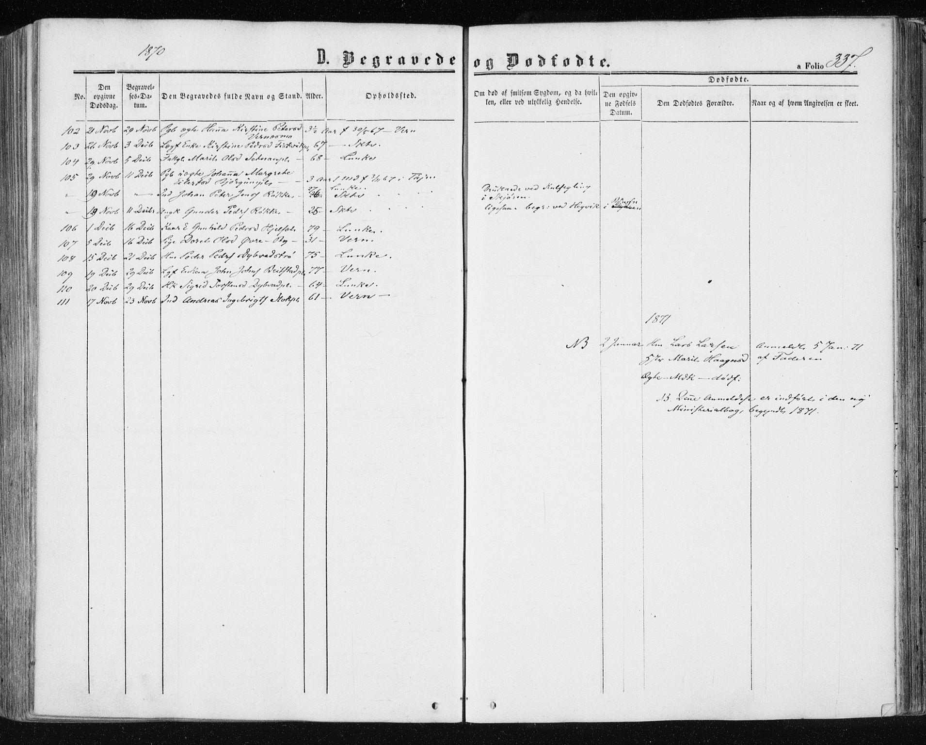 SAT, Ministerialprotokoller, klokkerbøker og fødselsregistre - Nord-Trøndelag, 709/L0075: Ministerialbok nr. 709A15, 1859-1870, s. 337