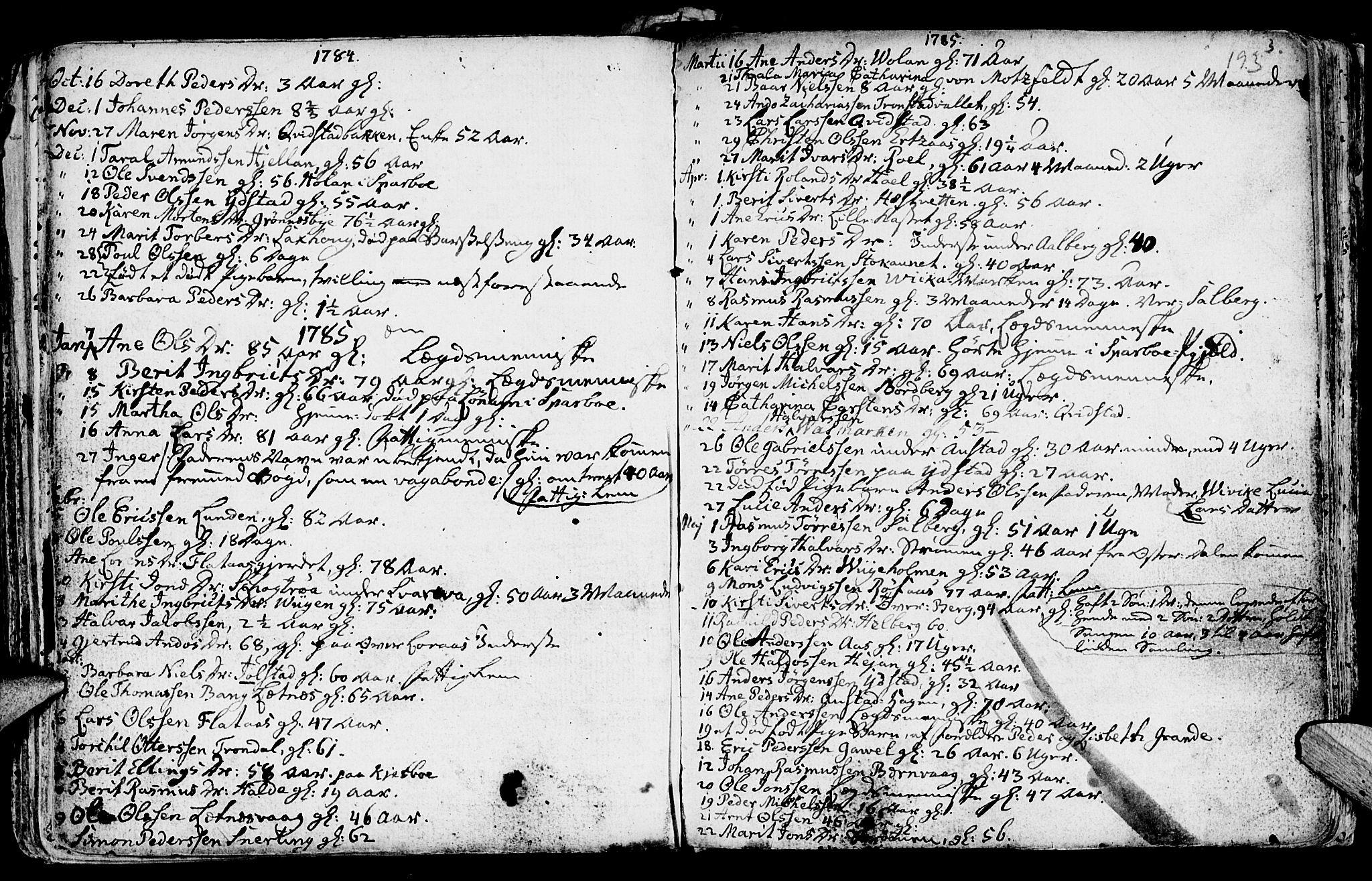 SAT, Ministerialprotokoller, klokkerbøker og fødselsregistre - Nord-Trøndelag, 730/L0273: Ministerialbok nr. 730A02, 1762-1802, s. 193