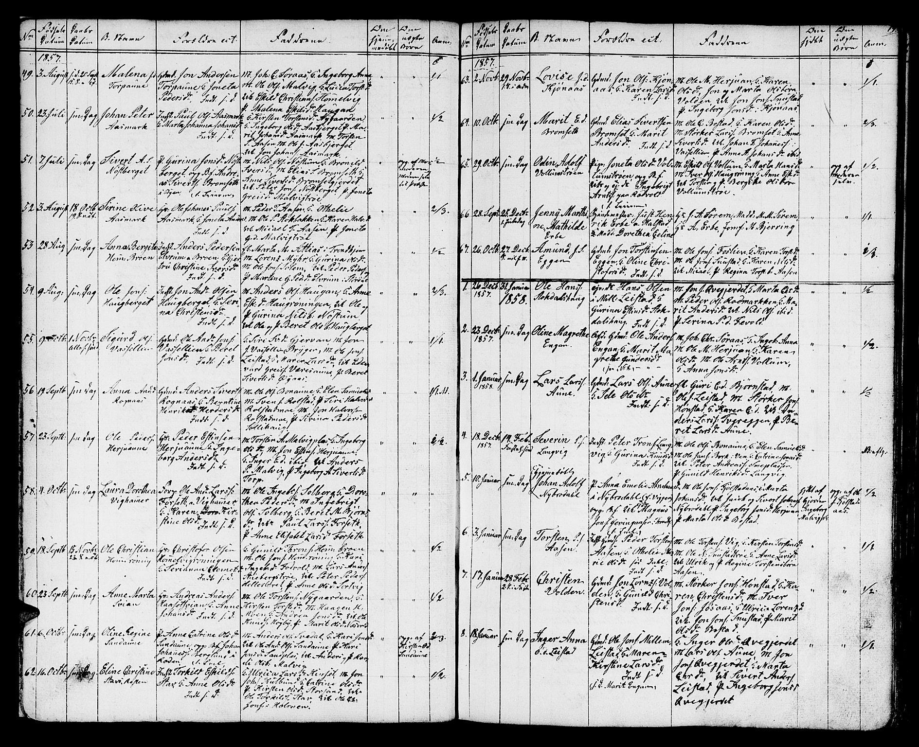 SAT, Ministerialprotokoller, klokkerbøker og fødselsregistre - Sør-Trøndelag, 616/L0422: Klokkerbok nr. 616C05, 1850-1888, s. 19