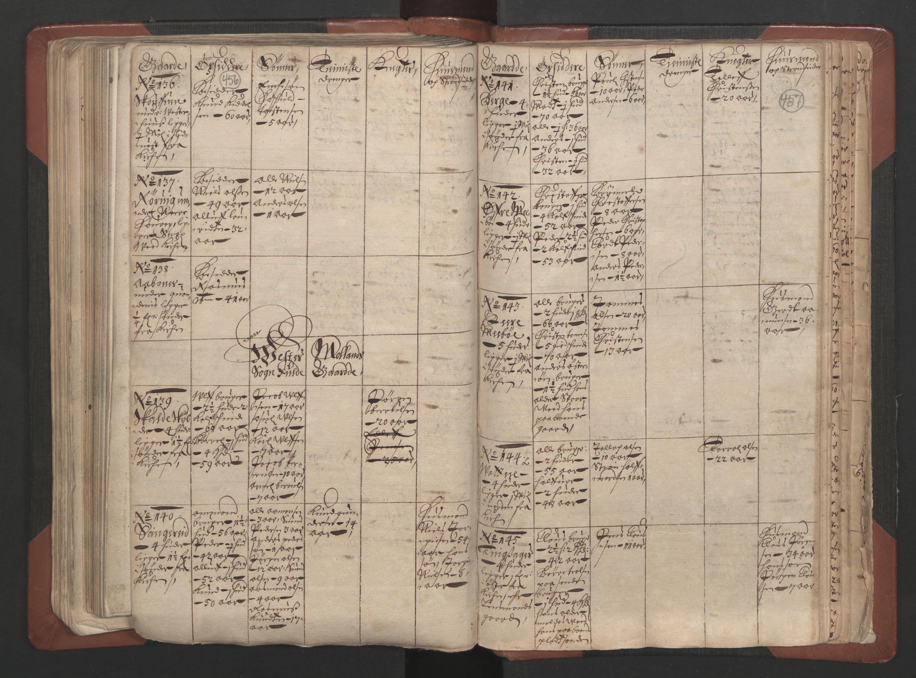 RA, Fogdenes og sorenskrivernes manntall 1664-1666, nr. 7: Nedenes fogderi, 1664-1666, s. 456-457
