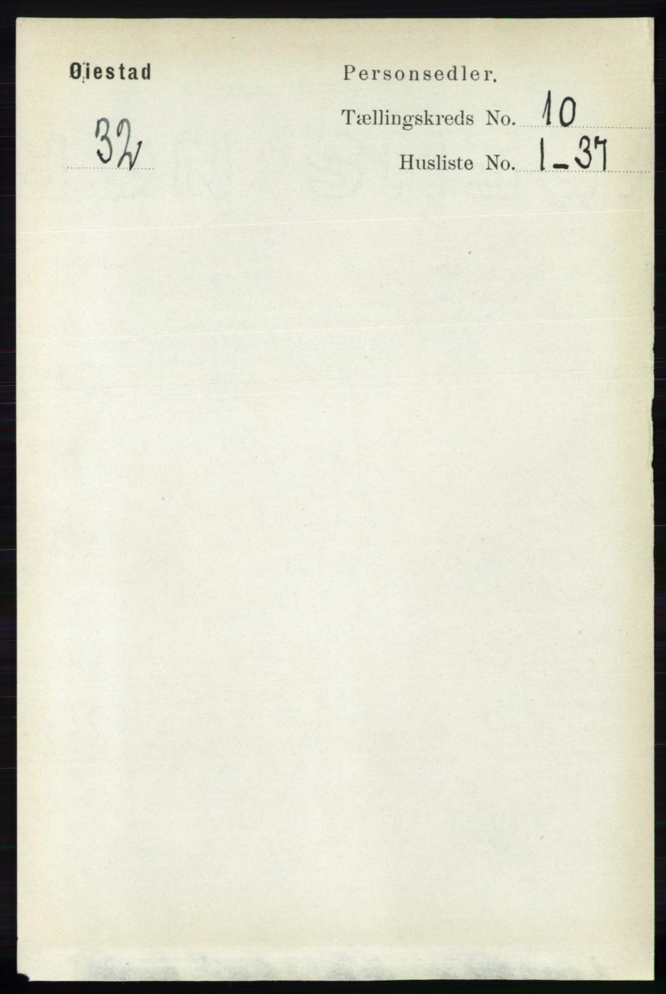 RA, Folketelling 1891 for 0920 Øyestad herred, 1891, s. 4166