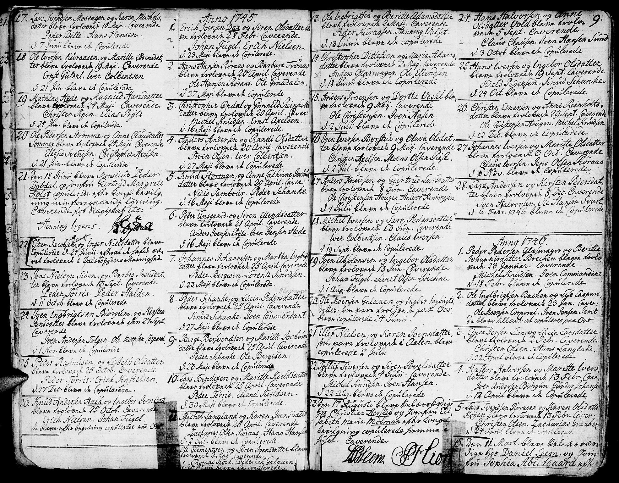 SAT, Ministerialprotokoller, klokkerbøker og fødselsregistre - Sør-Trøndelag, 681/L0925: Ministerialbok nr. 681A03, 1727-1766, s. 9