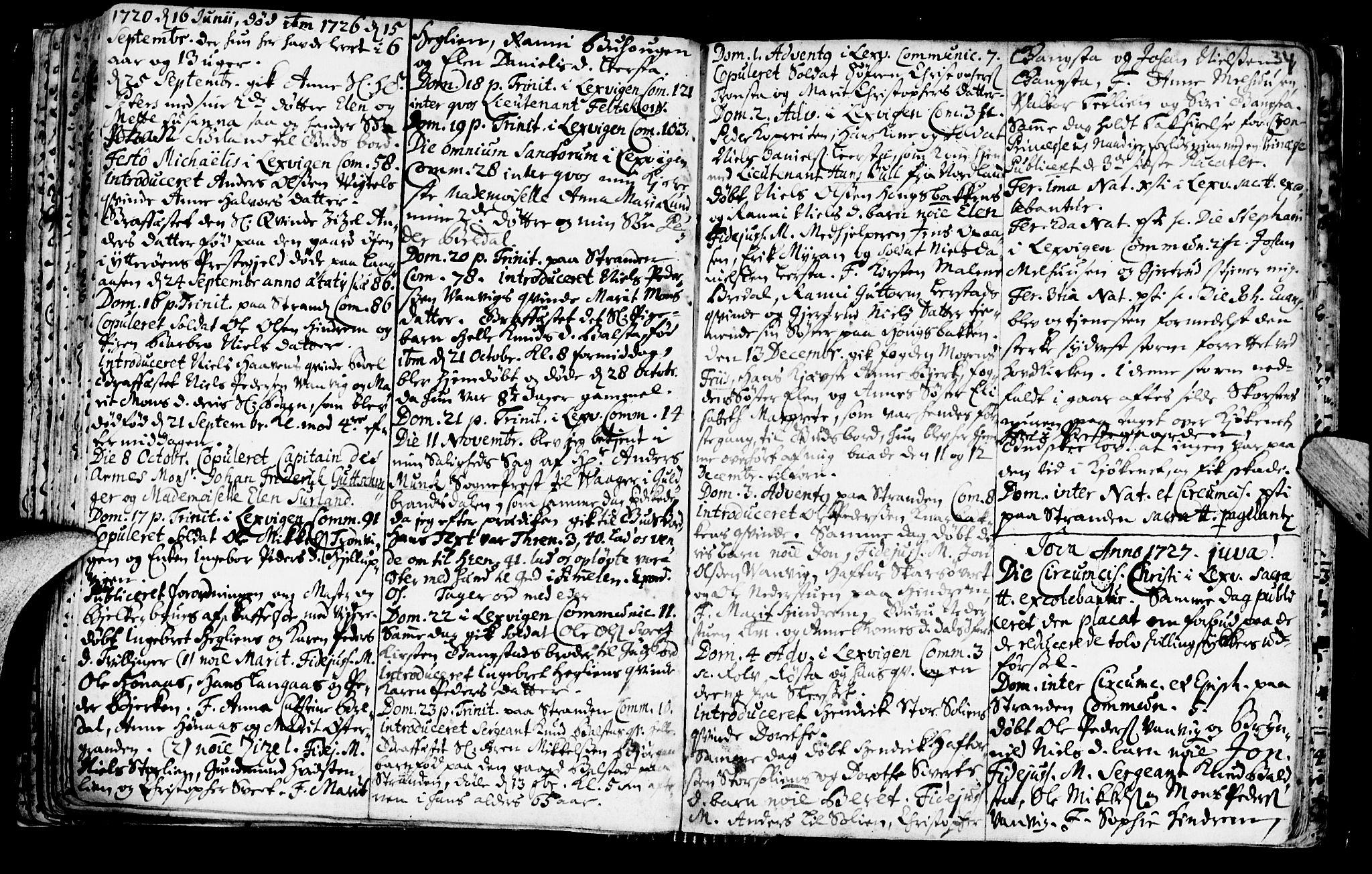 SAT, Ministerialprotokoller, klokkerbøker og fødselsregistre - Nord-Trøndelag, 701/L0001: Ministerialbok nr. 701A01, 1717-1731, s. 34