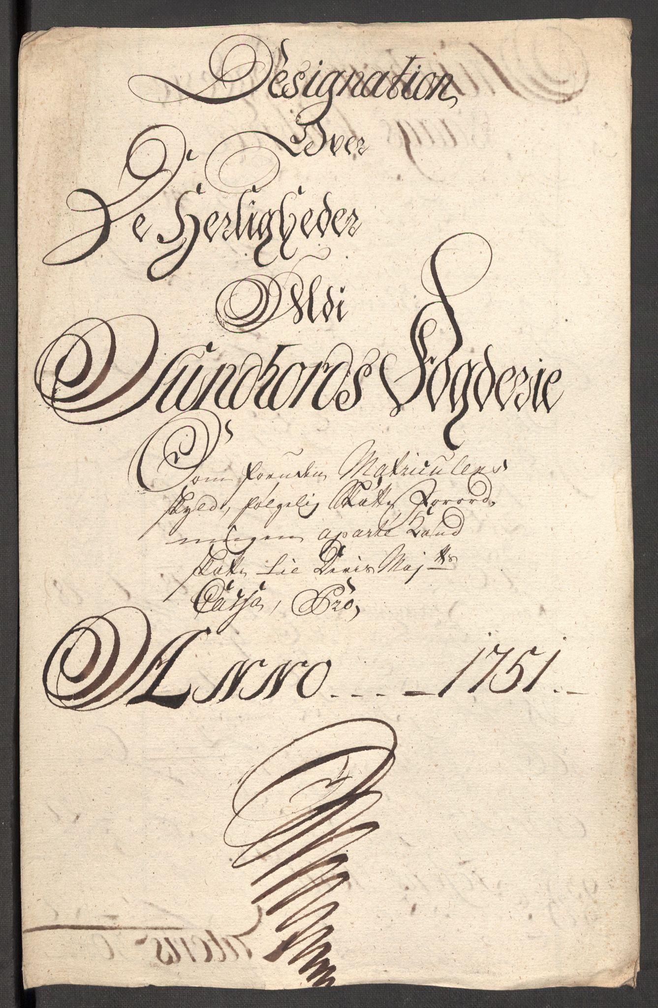 RA, Rentekammeret inntil 1814, Reviderte regnskaper, Fogderegnskap, R48/L3056: Fogderegnskap Sunnhordland og Hardanger, 1751, s. 135
