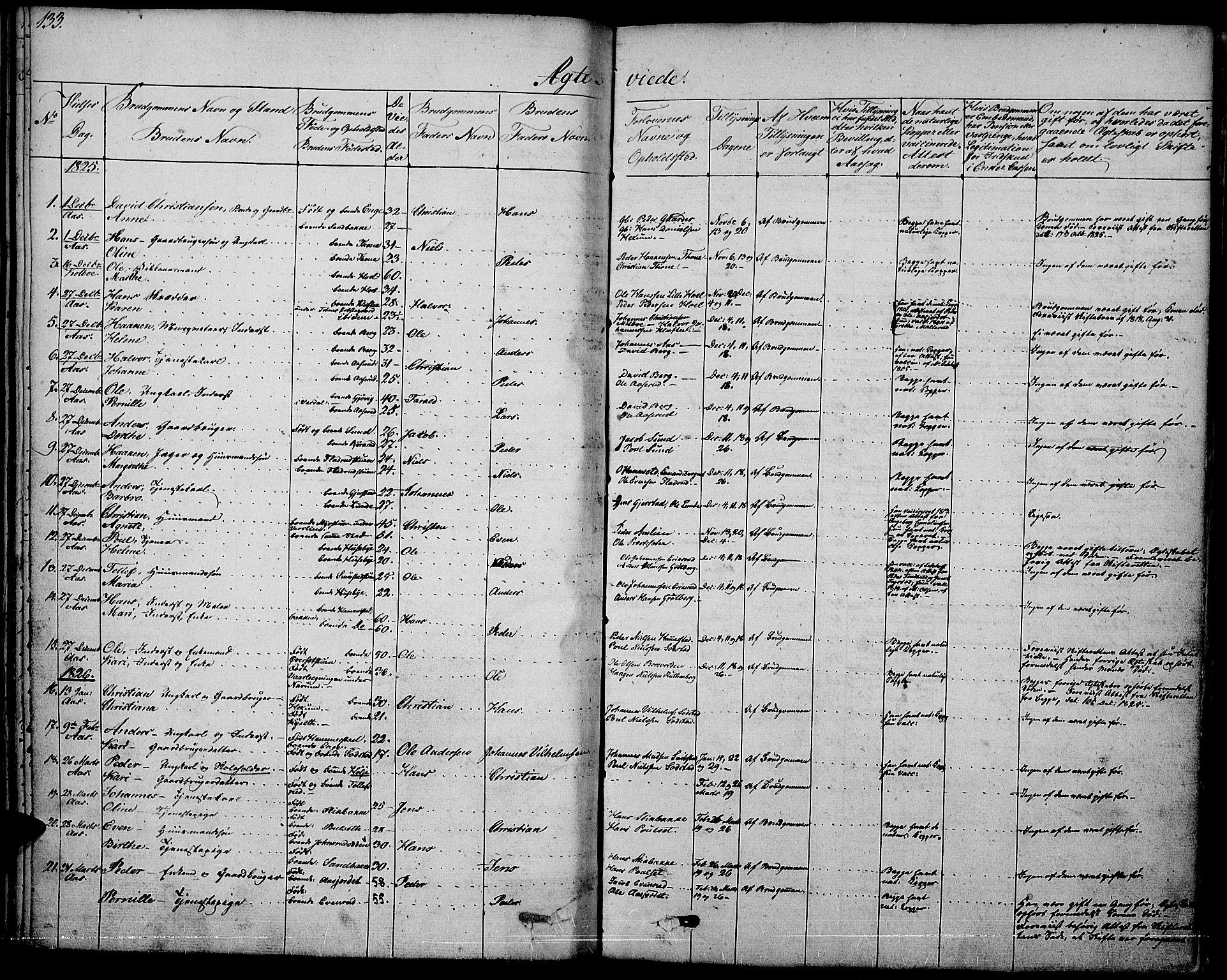 SAH, Vestre Toten prestekontor, H/Ha/Haa/L0002: Ministerialbok nr. 2, 1825-1837, s. 133