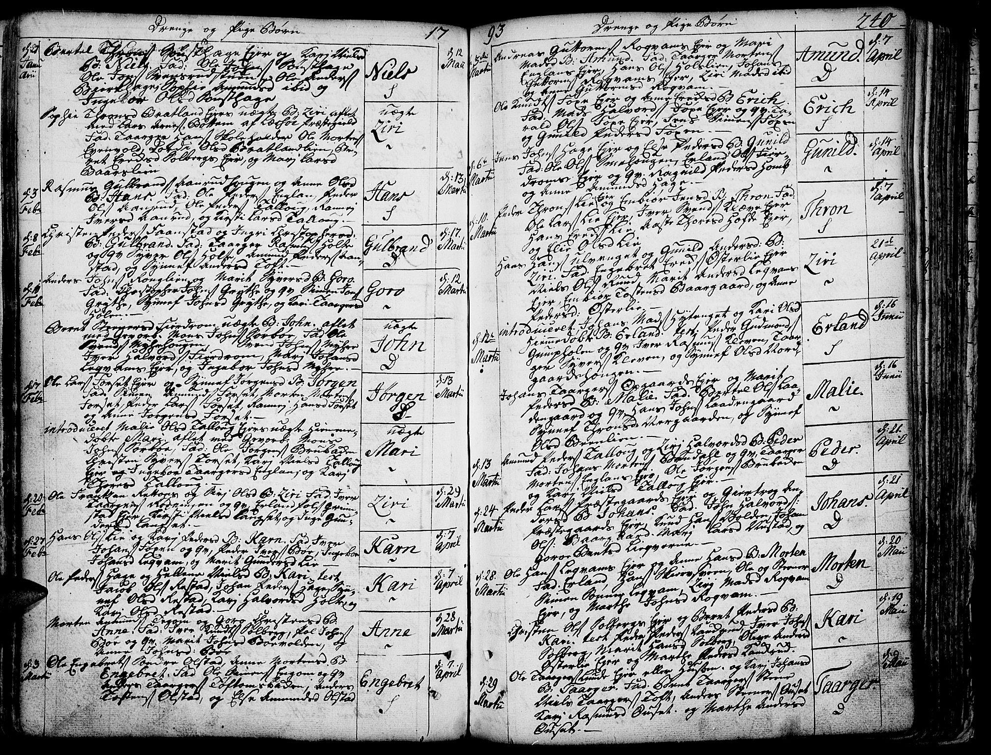 SAH, Gausdal prestekontor, Ministerialbok nr. 3, 1758-1809, s. 240