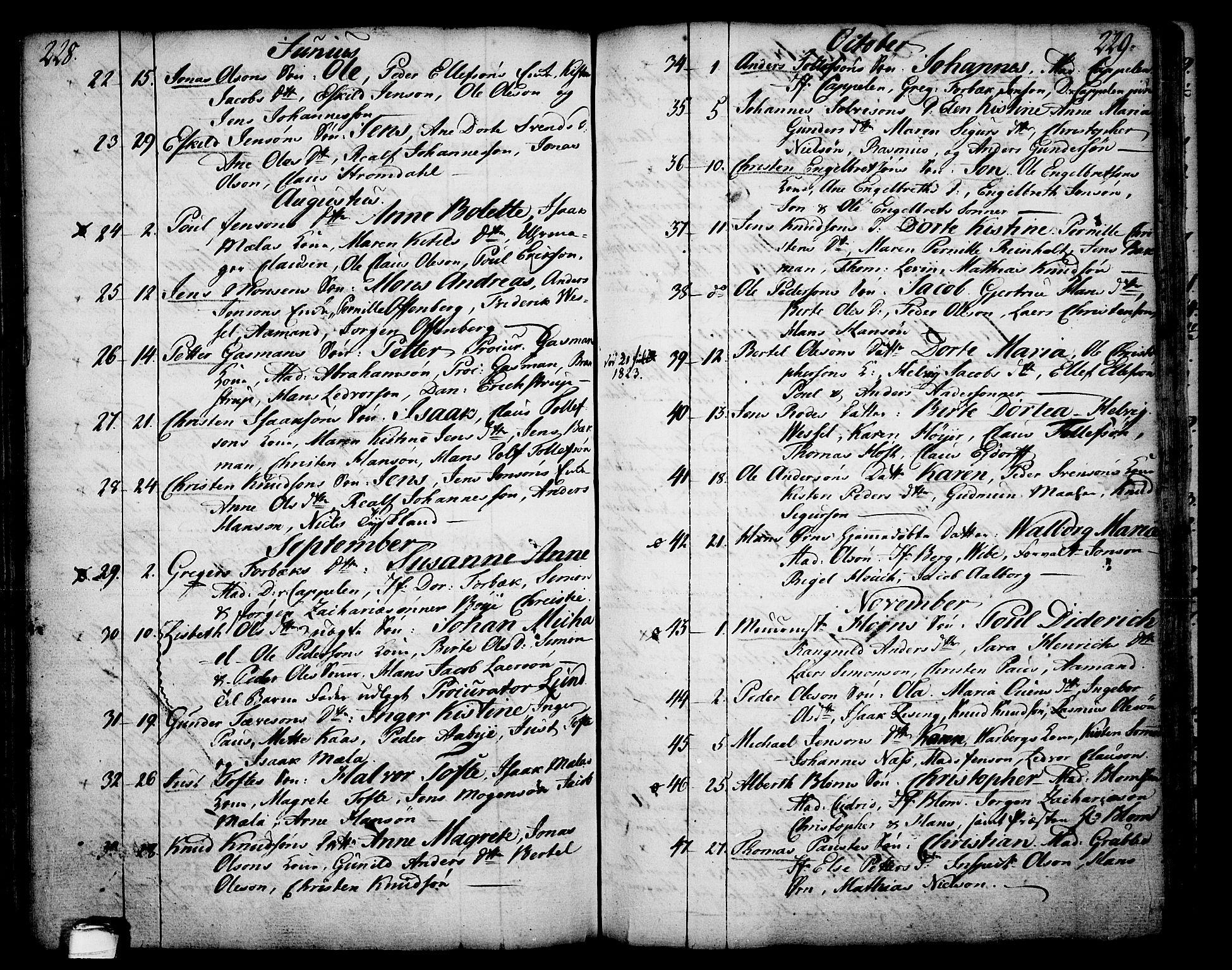 SAKO, Skien kirkebøker, F/Fa/L0003: Ministerialbok nr. 3, 1755-1791, s. 228-229