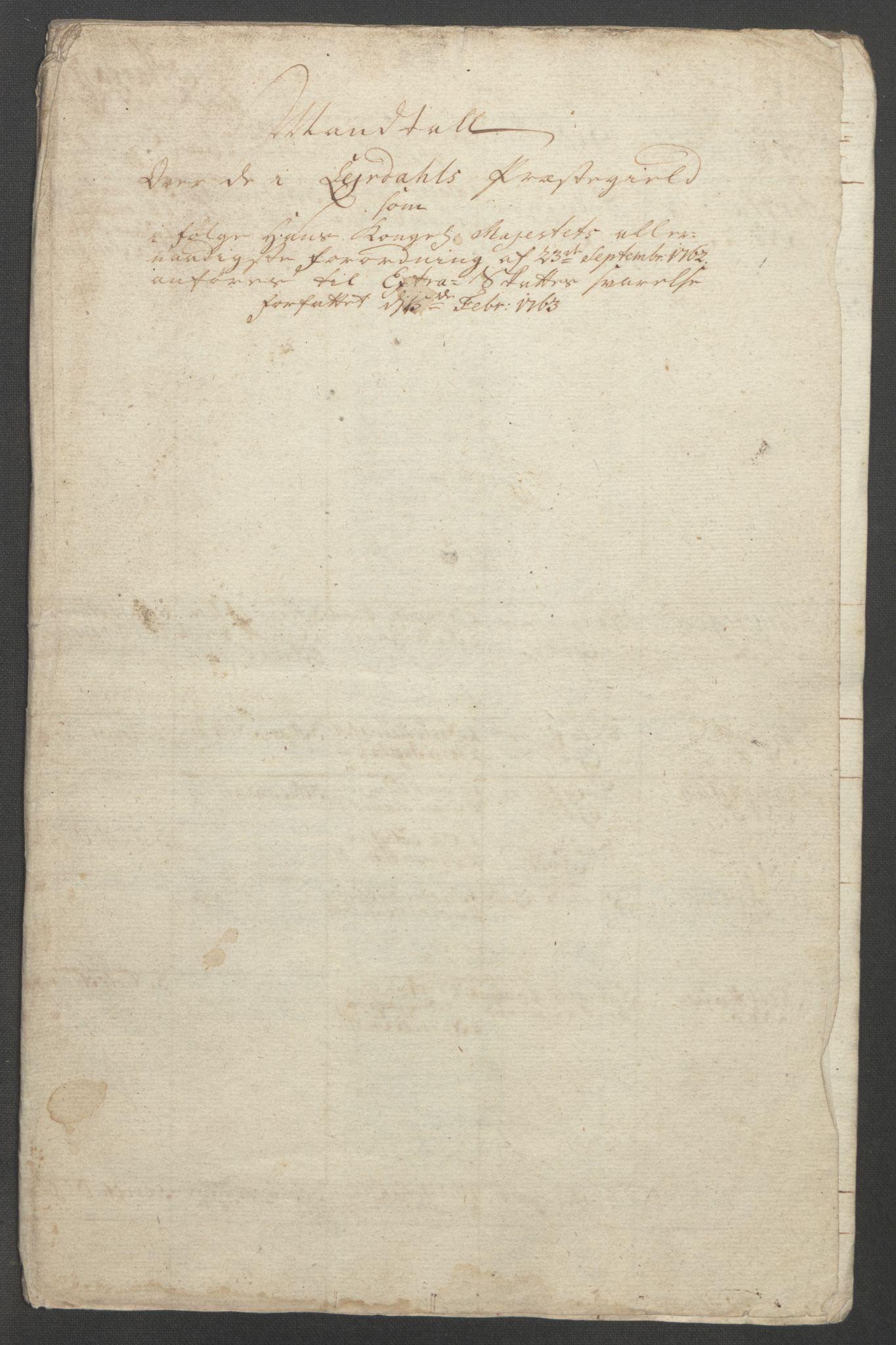 RA, Rentekammeret inntil 1814, Reviderte regnskaper, Fogderegnskap, R52/L3418: Ekstraskatten Sogn, 1762-1769, s. 135