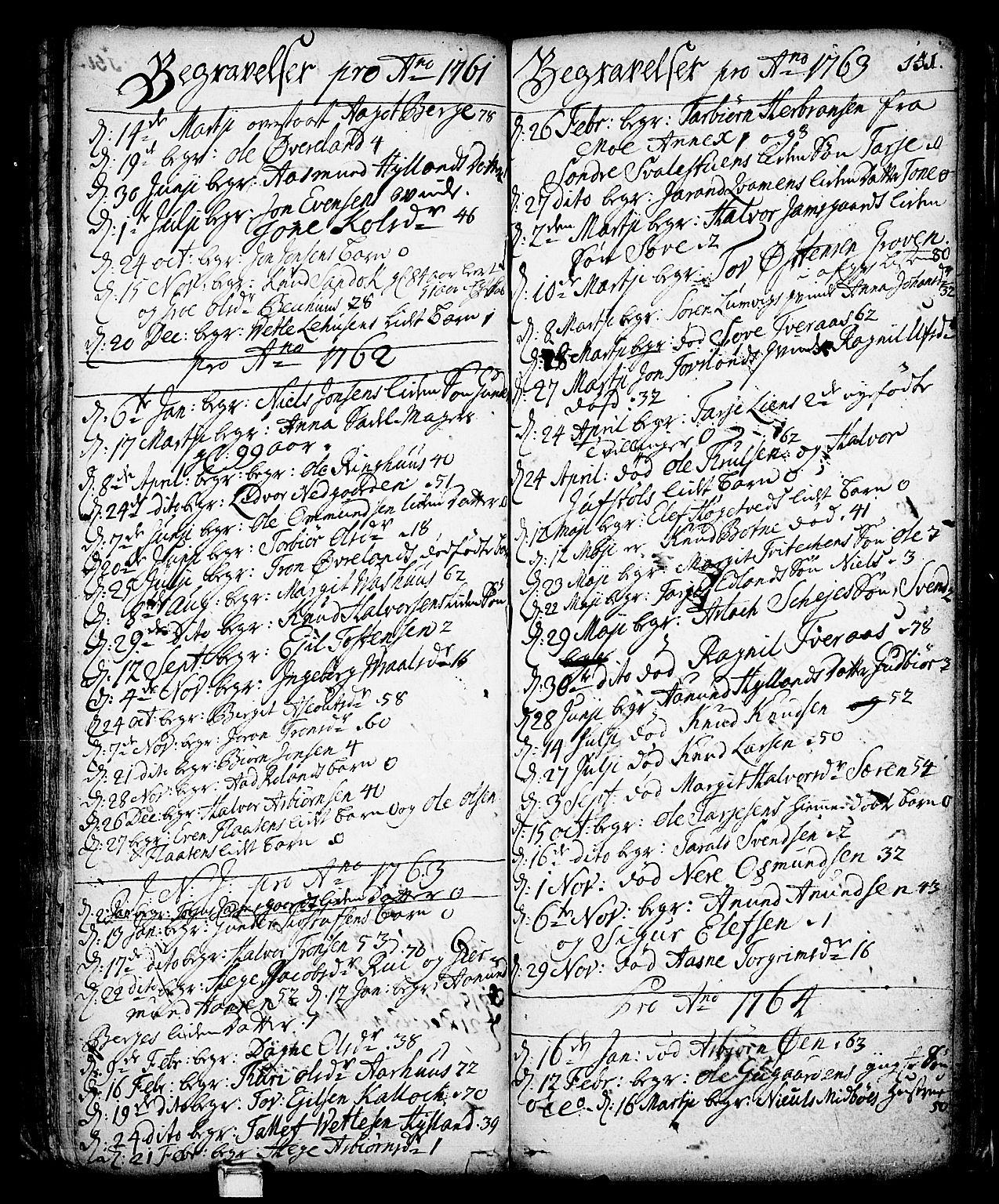 SAKO, Vinje kirkebøker, F/Fa/L0001: Ministerialbok nr. I 1, 1717-1766, s. 151