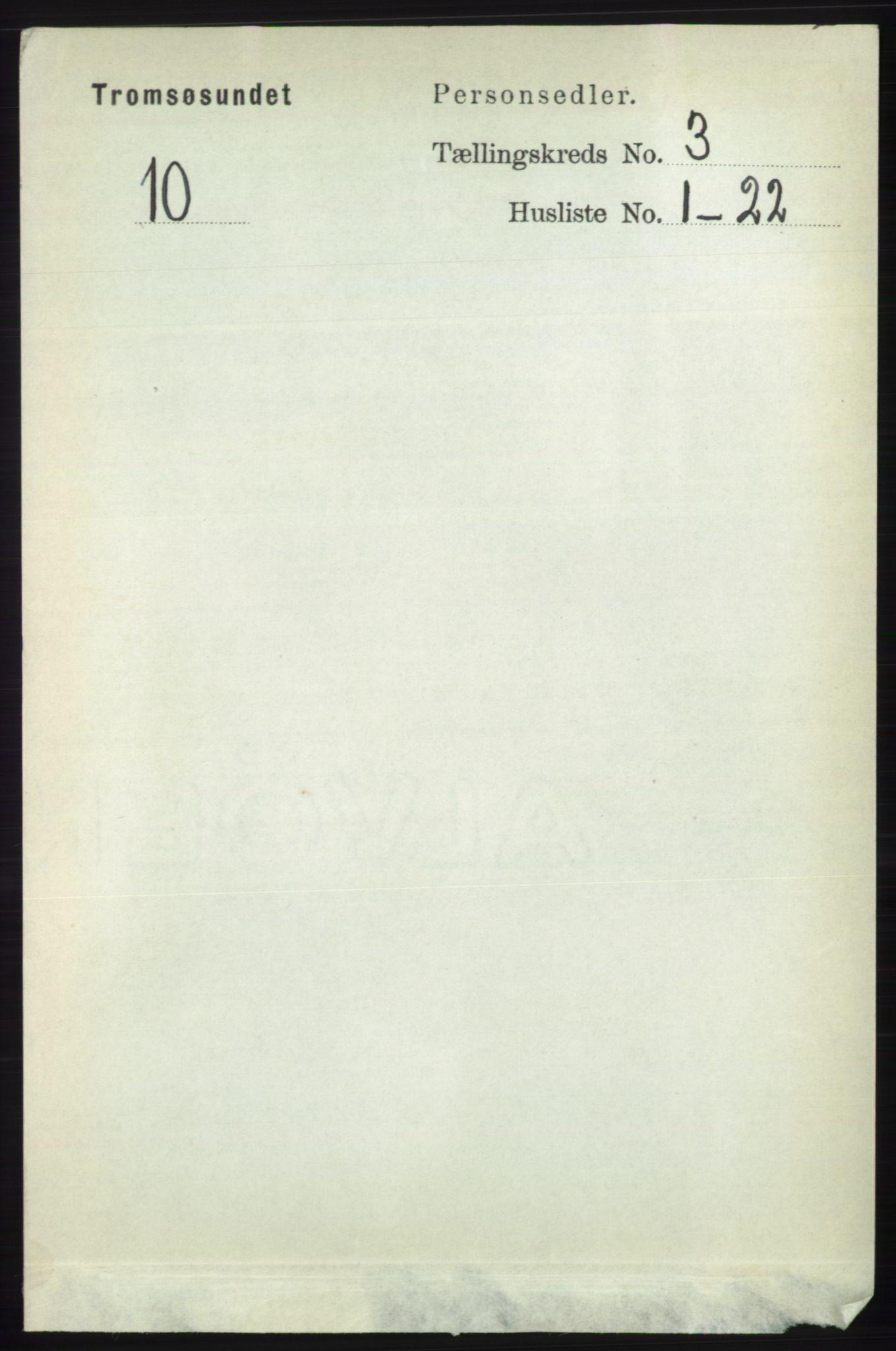 RA, Folketelling 1891 for 1934 Tromsøysund herred, 1891, s. 1001