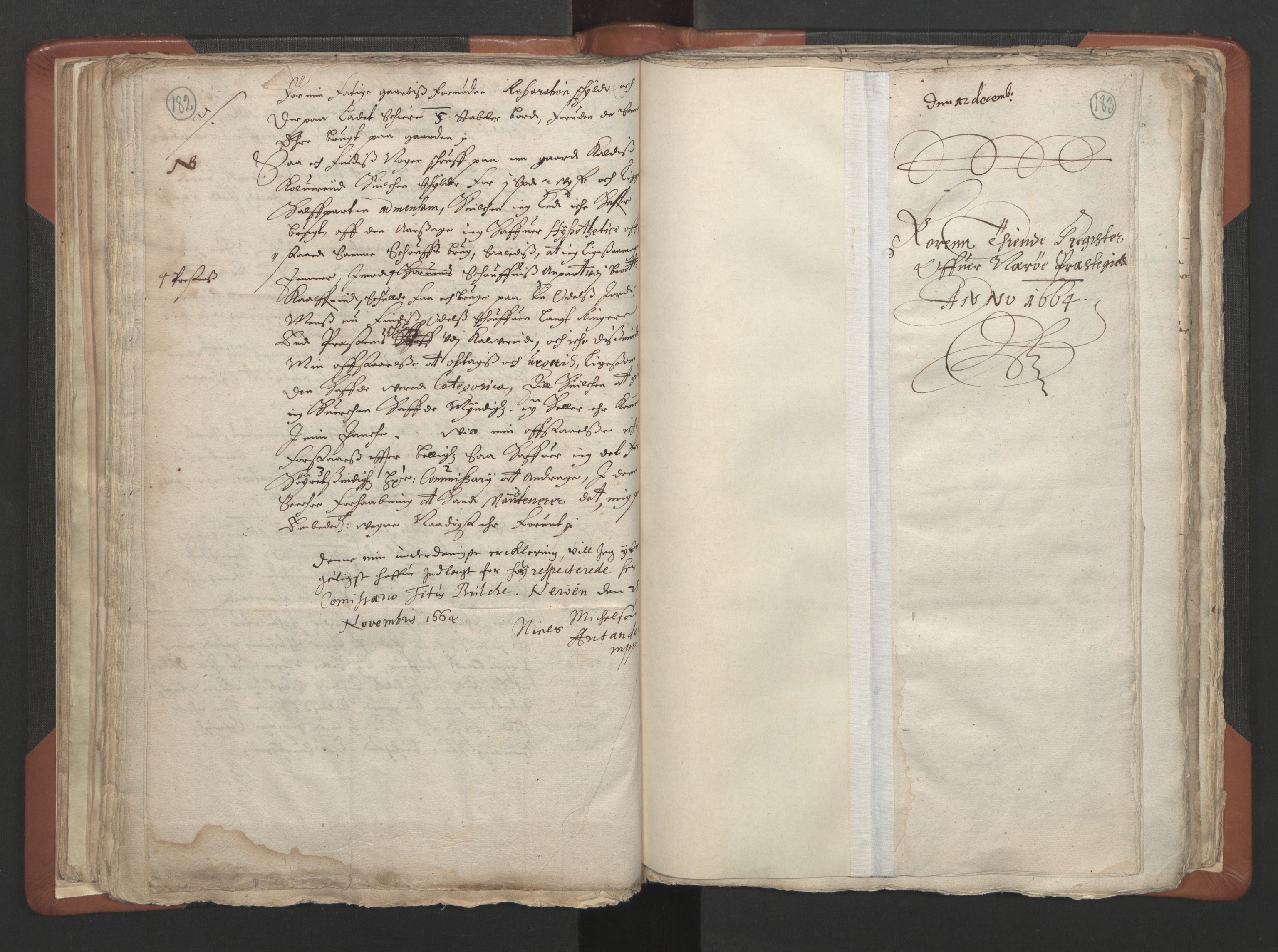 RA, Sogneprestenes manntall 1664-1666, nr. 34: Namdal prosti, 1664-1666, s. 182-183