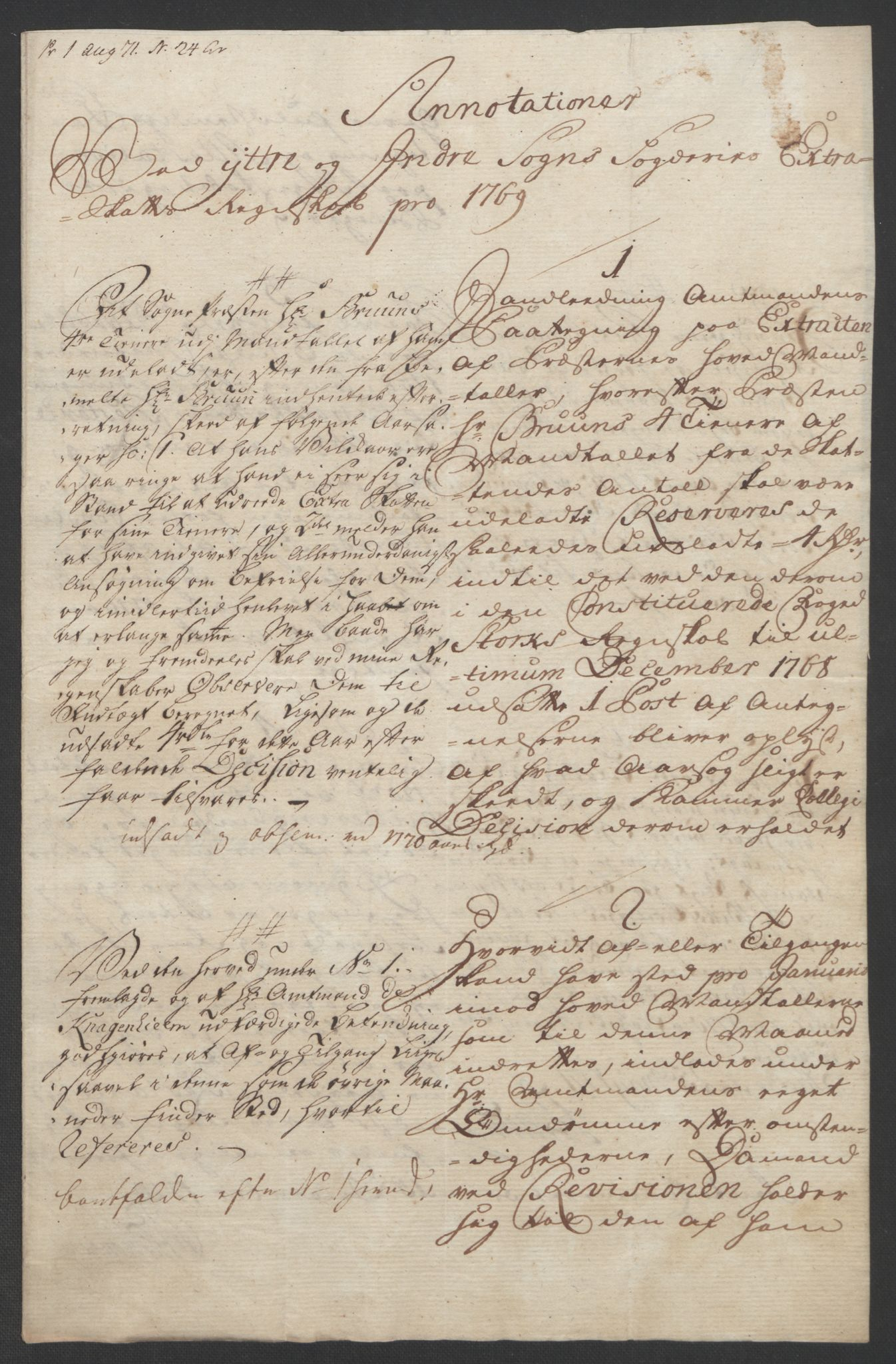 RA, Rentekammeret inntil 1814, Realistisk ordnet avdeling, Ol/L0018: [Gg 10]: Ekstraskatten, 23.09.1762. Sogn, 1762-1772, s. 305