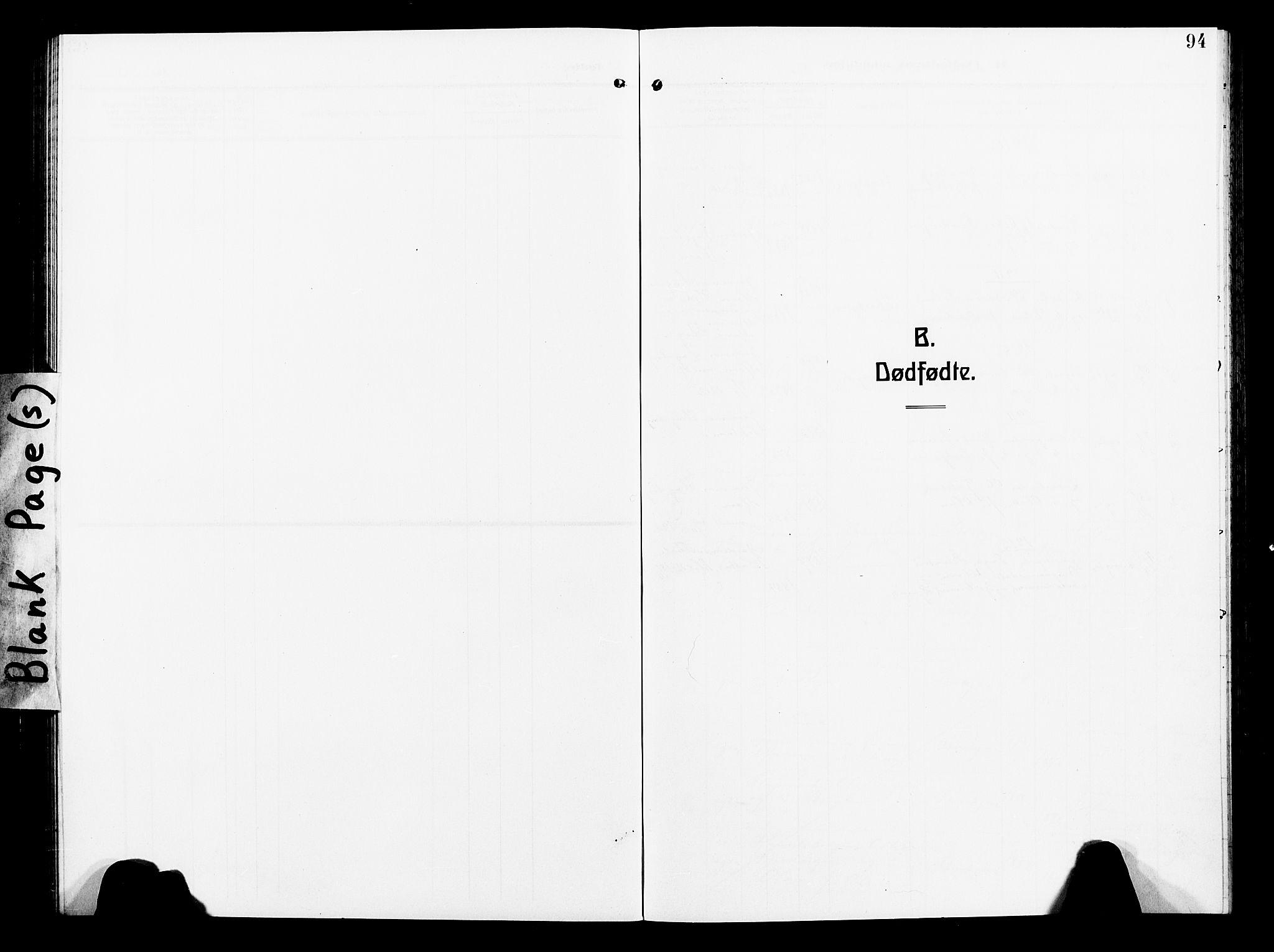 SAT, Ministerialprotokoller, klokkerbøker og fødselsregistre - Nord-Trøndelag, 739/L0376: Klokkerbok nr. 739C04, 1908-1917, s. 94