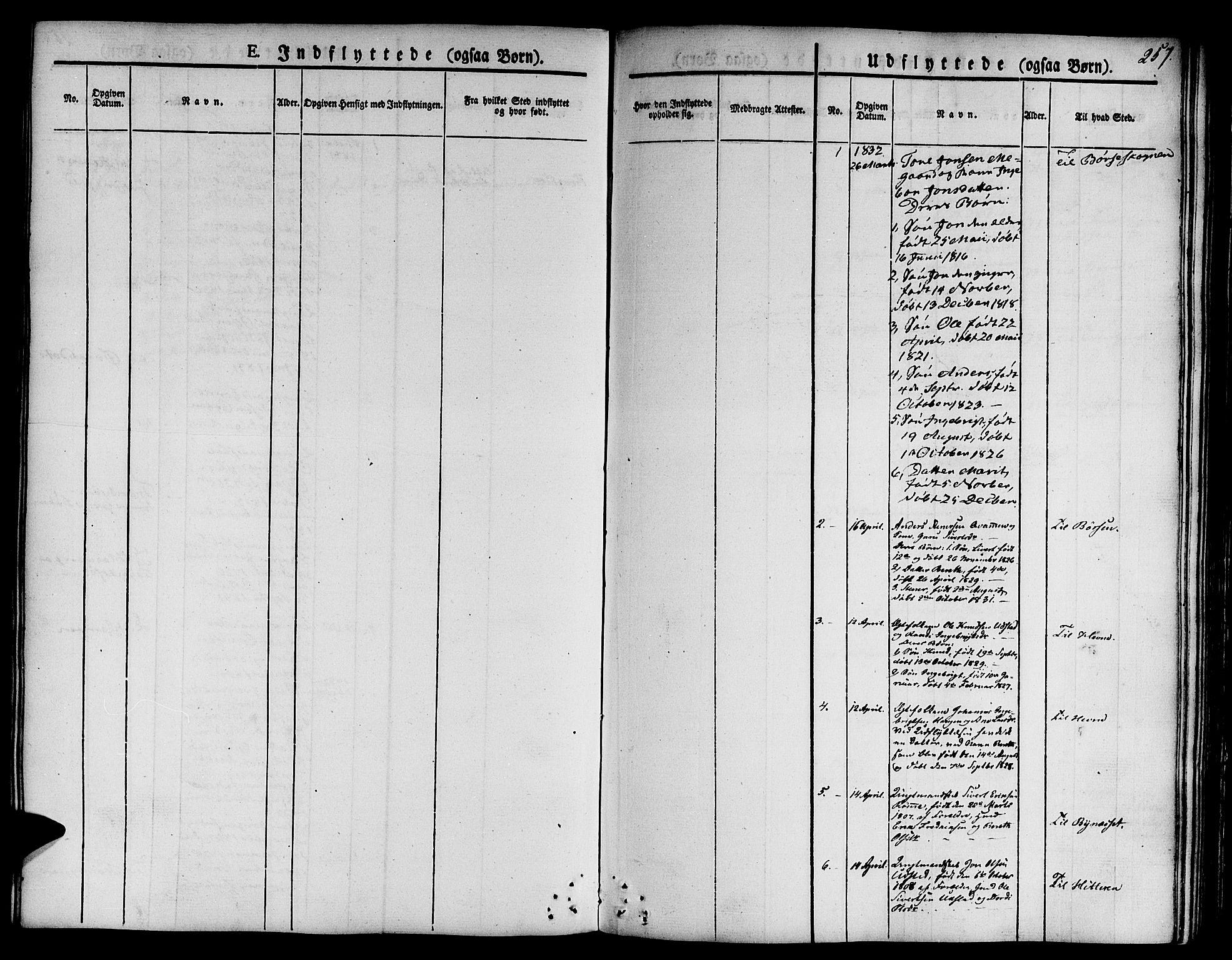 SAT, Ministerialprotokoller, klokkerbøker og fødselsregistre - Sør-Trøndelag, 668/L0804: Ministerialbok nr. 668A04, 1826-1839, s. 257