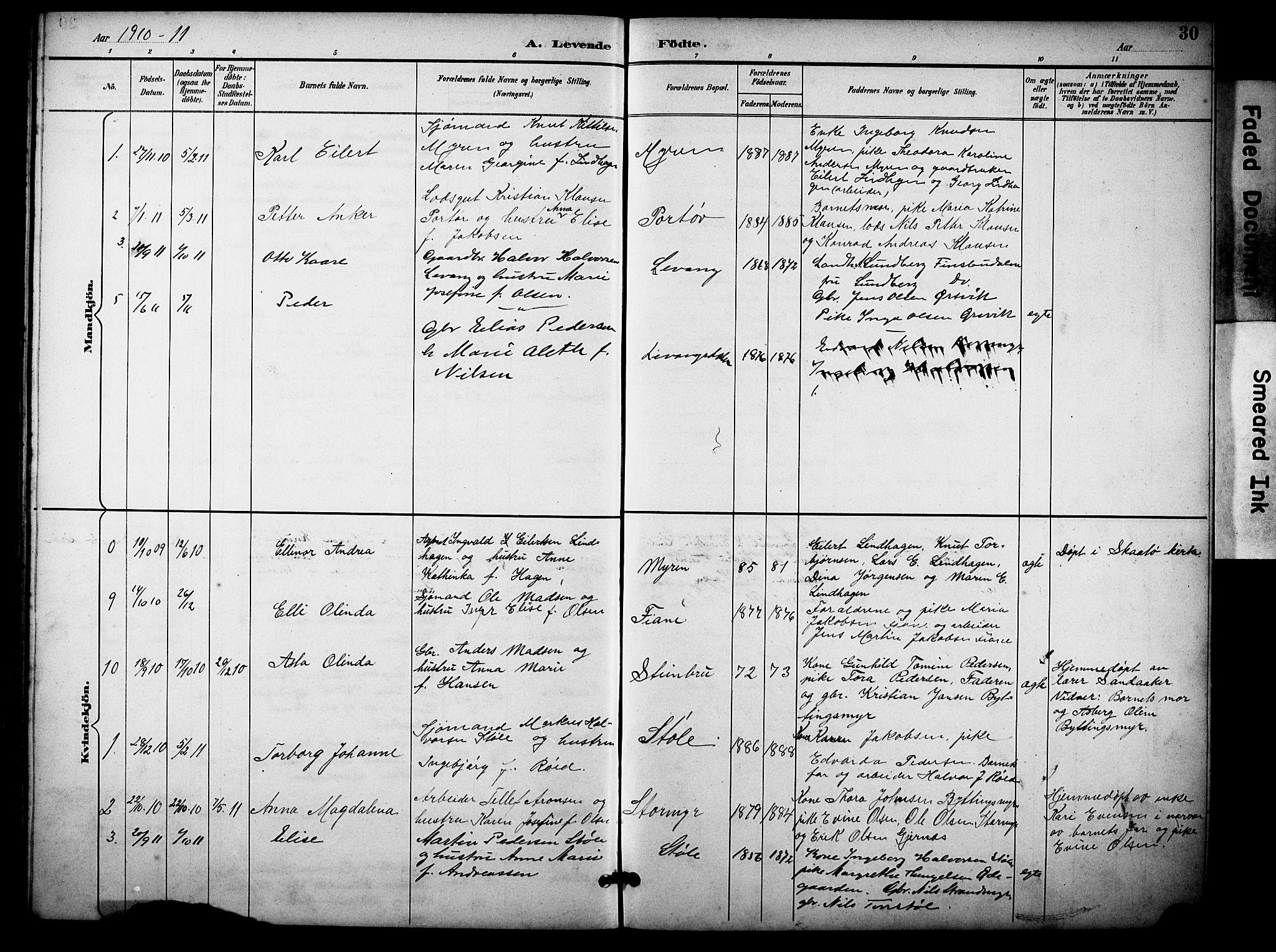 SAKO, Skåtøy kirkebøker, G/Gb/L0001: Klokkerbok nr. II 1, 1892-1916, s. 30