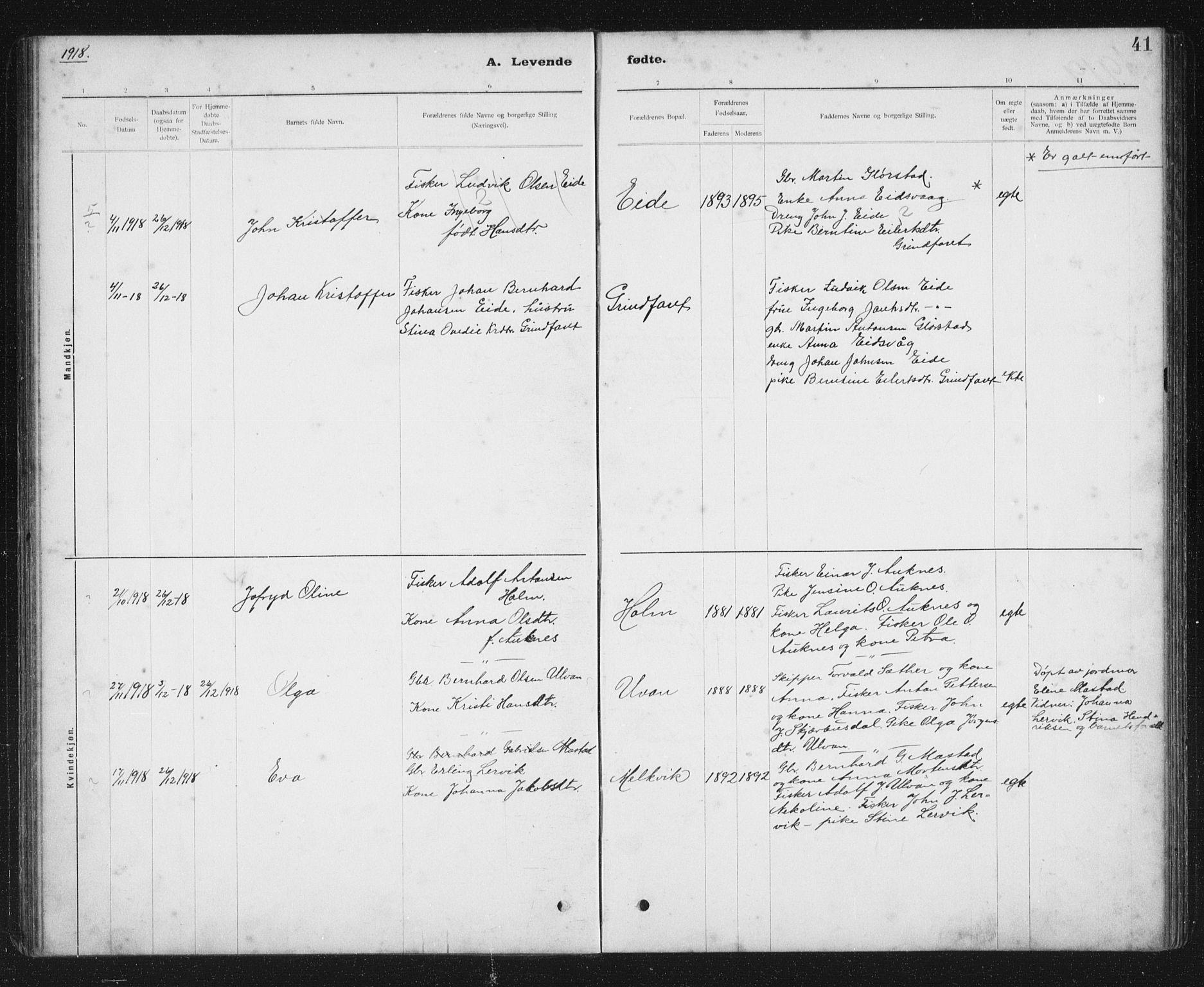 SAT, Ministerialprotokoller, klokkerbøker og fødselsregistre - Sør-Trøndelag, 637/L0563: Klokkerbok nr. 637C04, 1899-1940, s. 41